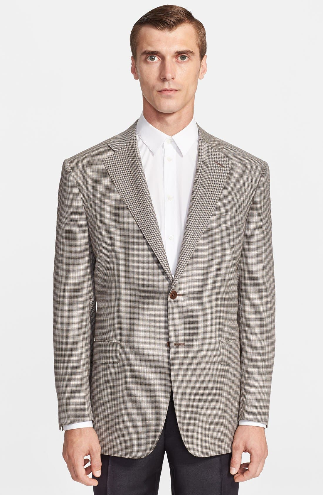 Alternate Image 1 Selected - Canali Classic Fit Houndstooth Wool Sportcoat