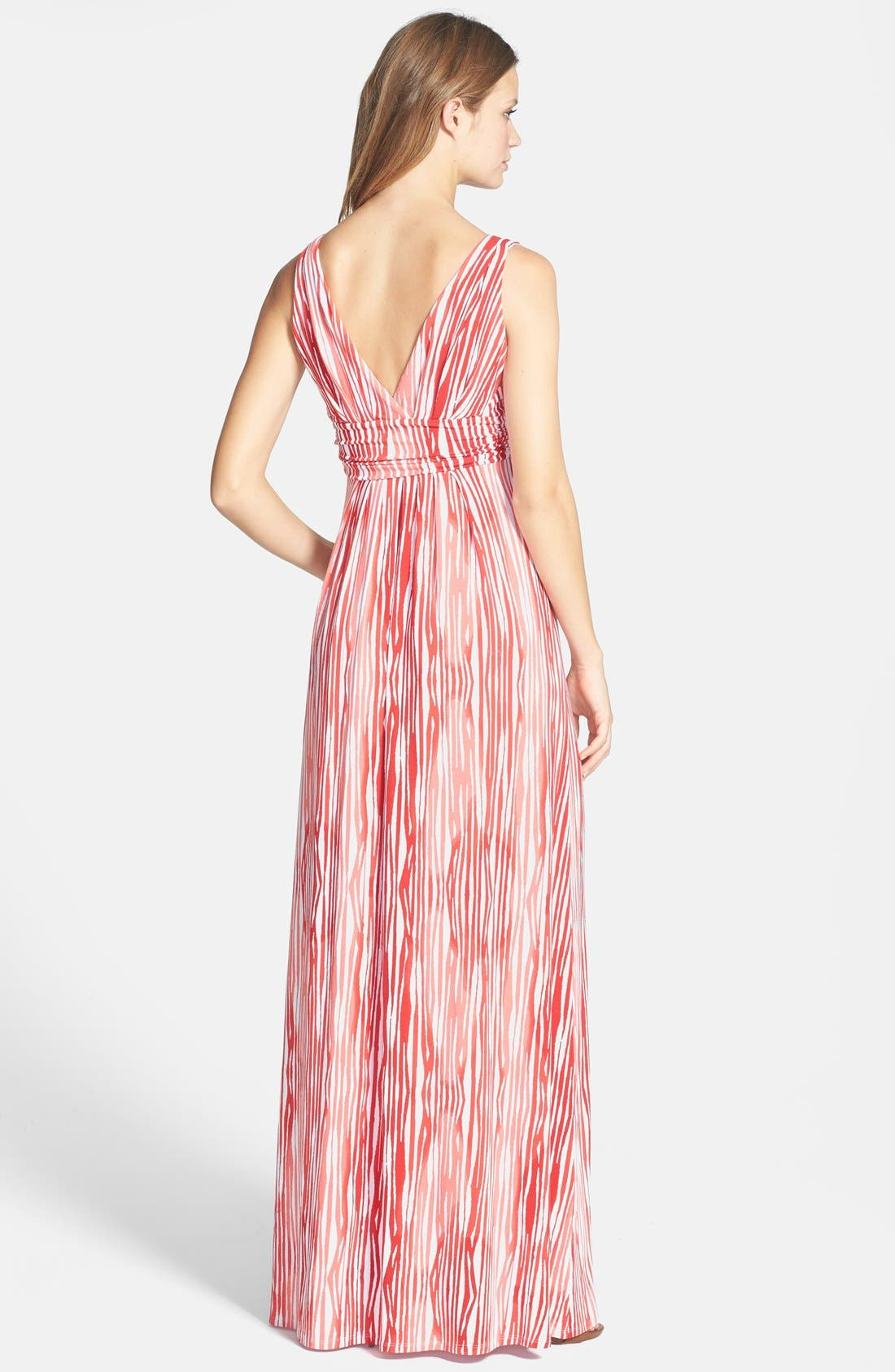 Alternate Image 2  - Tart 'Adrianna' Surplice Print Jersey Maxi Dress