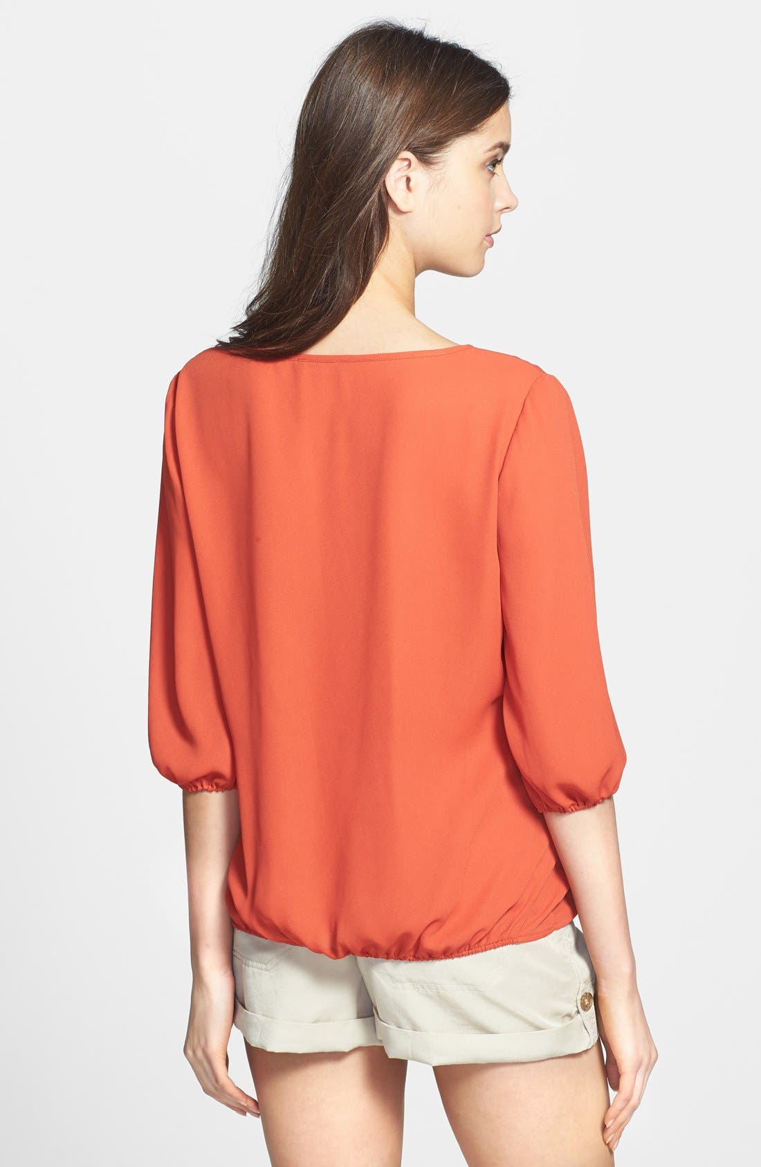Alternate Image 2  - Two by Vince Camuto Faux Wrap Front Blouse