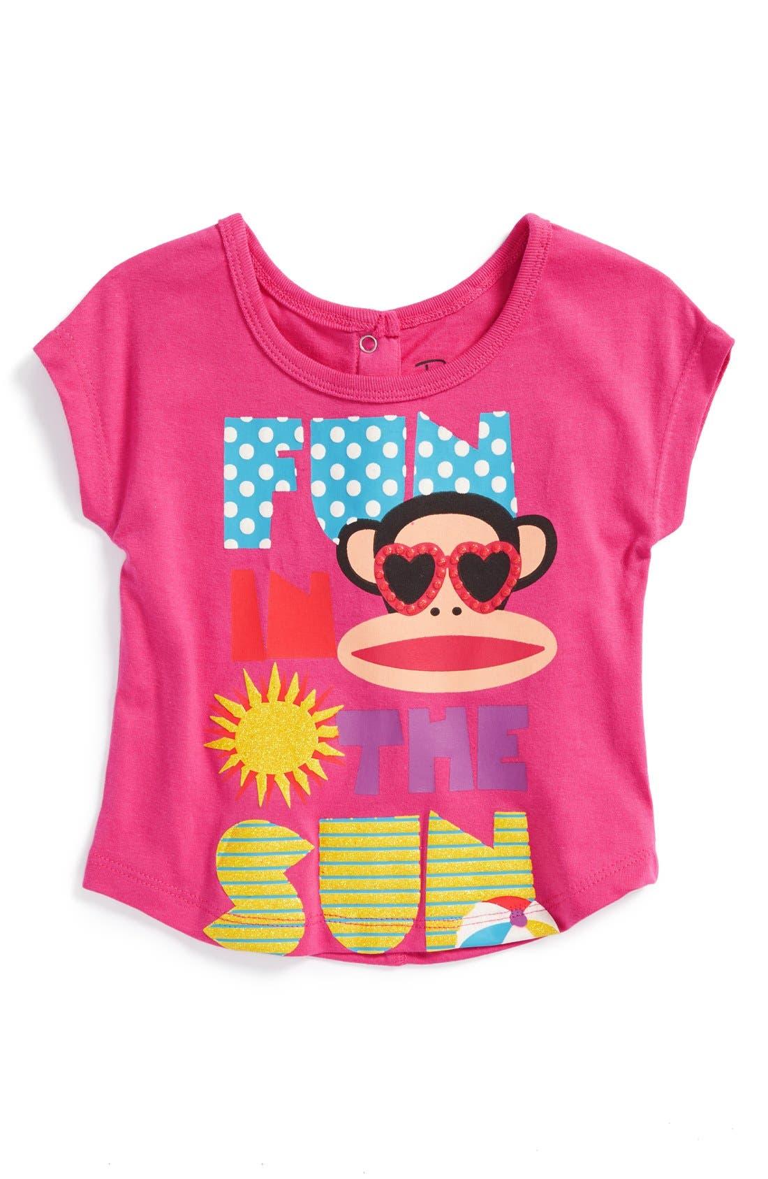 Main Image - Paul Frank 'Fun in the Sun' Graphic Tee (Baby Girls)