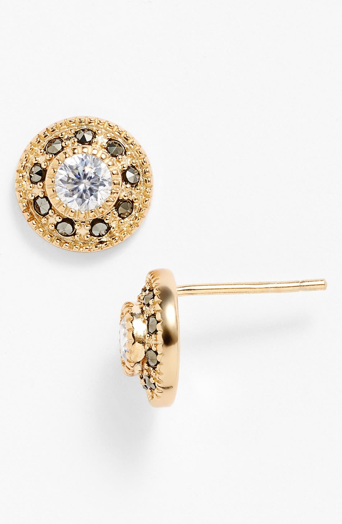 Alternate Image 1 Selected - Judith Jack Pavé Stud Earrings