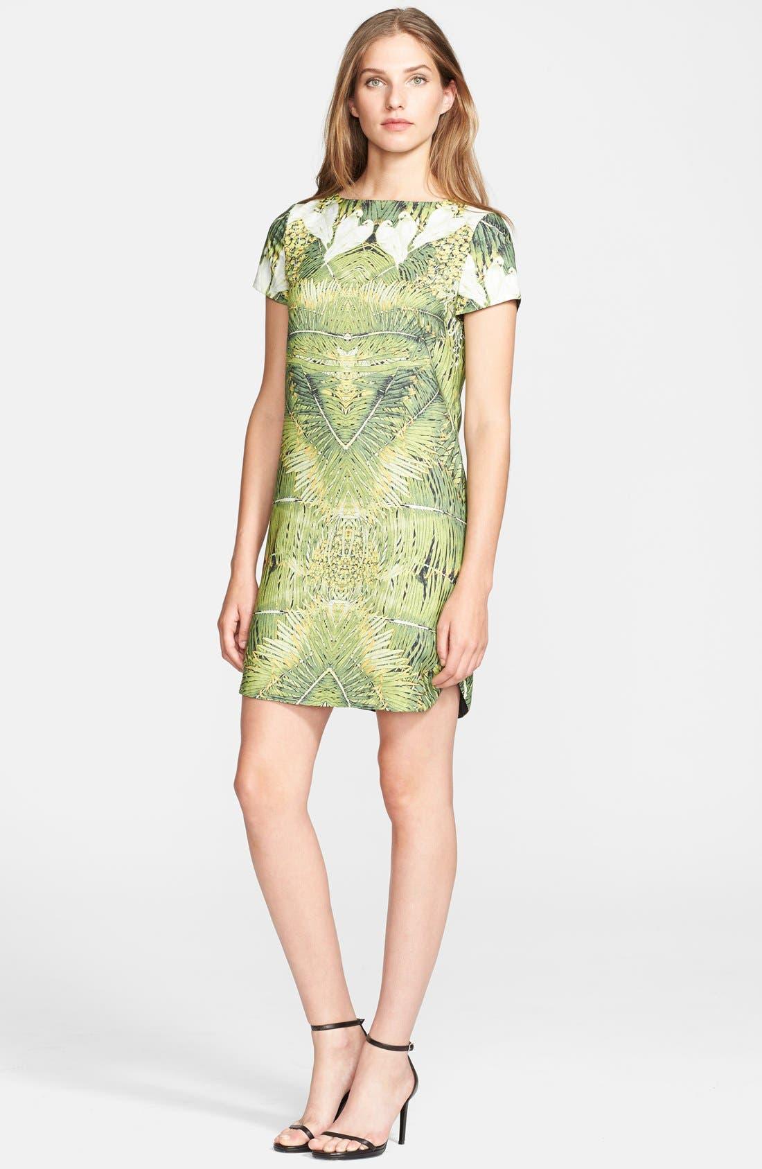 Alternate Image 1 Selected - Ted Baker London 'Tropical Doves' Print Woven Tunic Dress