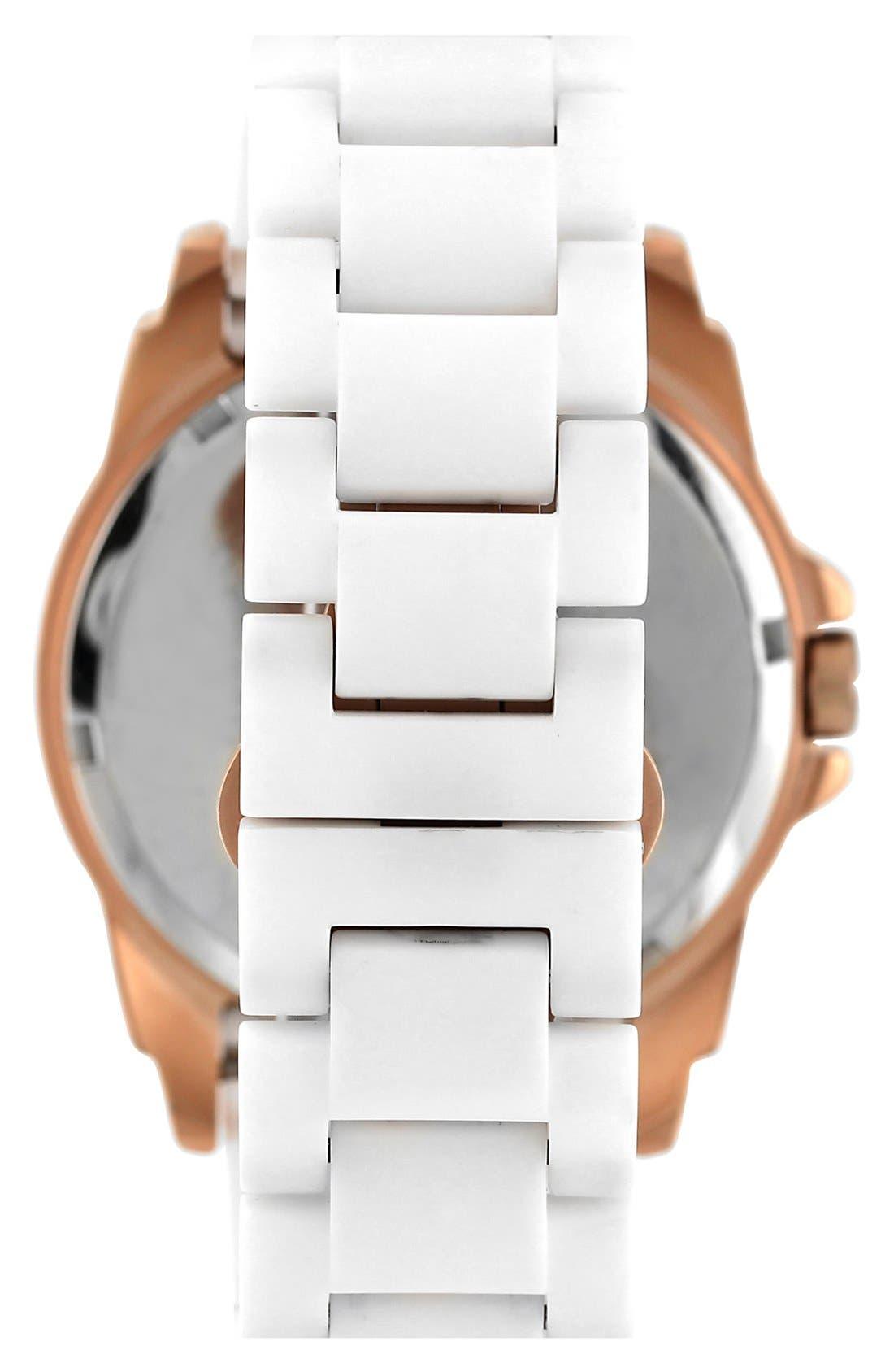 Alternate Image 2  - Vince Camuto Pyramid Bezel Ceramic Bracelet Watch, 44mm x 49mm