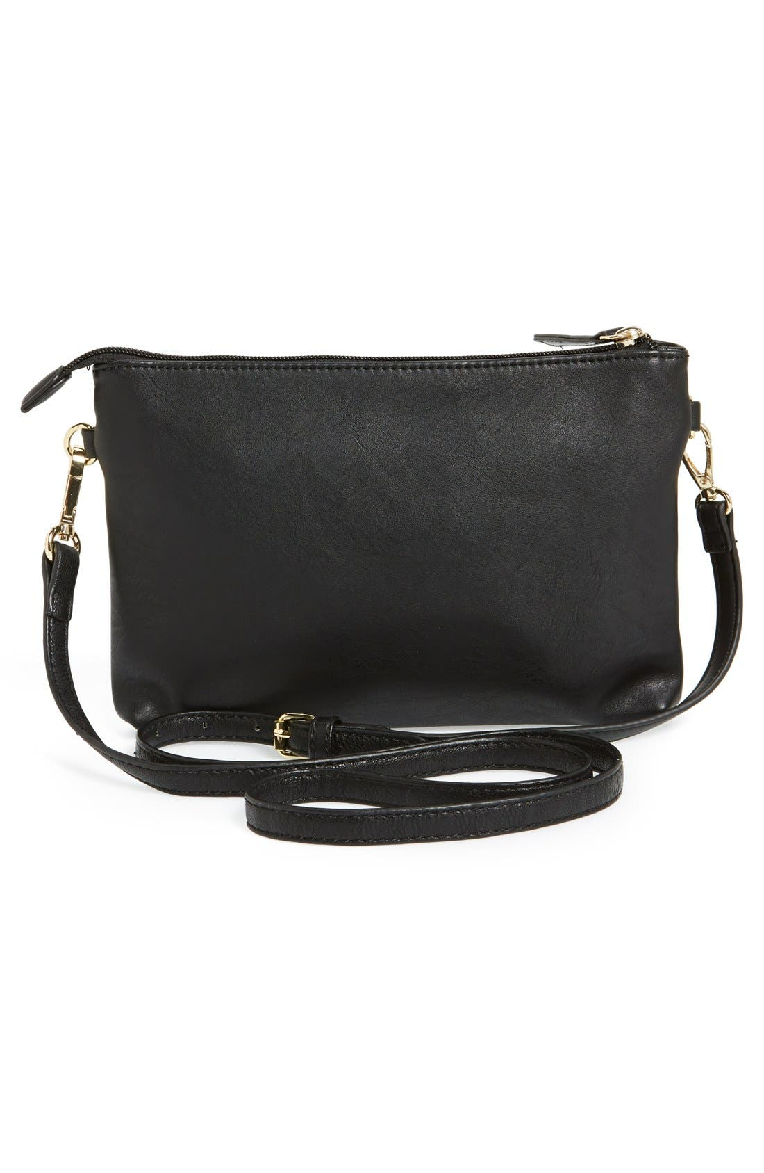 Alternate Image 4  - BP. Faux Leather Crossbody Bag (Juniors)