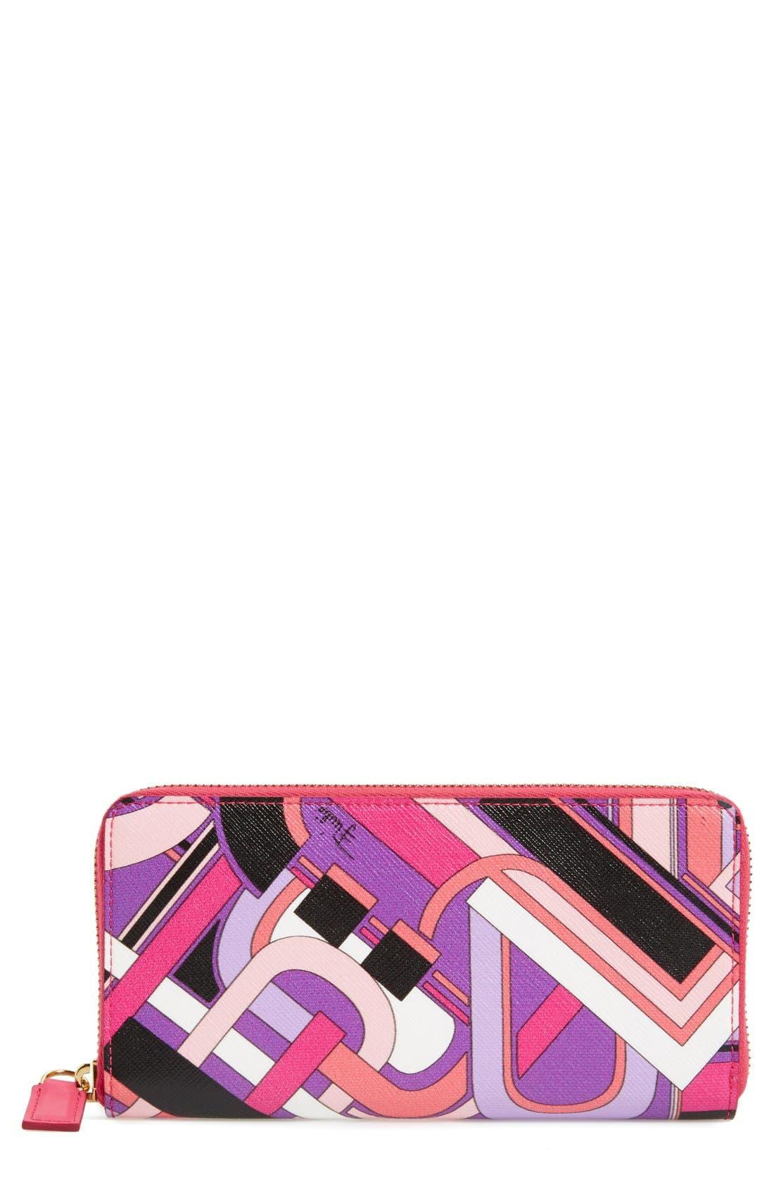 Alternate Image 1 Selected - Emilio Pucci Print Zip Around Wallet