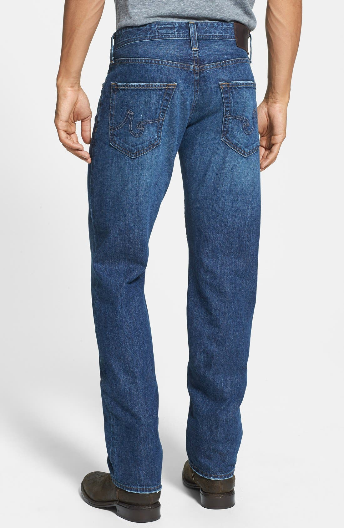 Alternate Image 2  - AG 'Graduate' Tailored Fit Straight Leg Jeans (4 Year Idlewood)