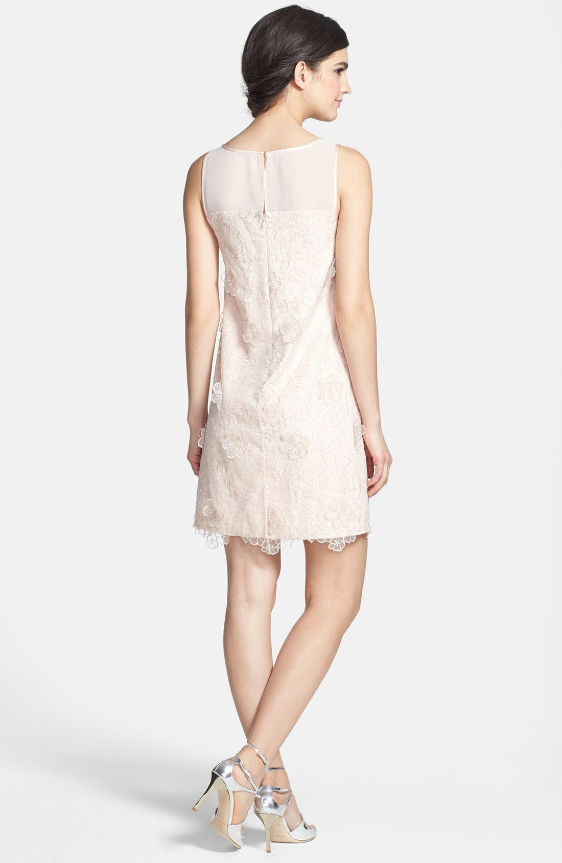Alternate Image 2  - ERIN erin fetherston 'Faye' Embroidered Organza Shift Dress