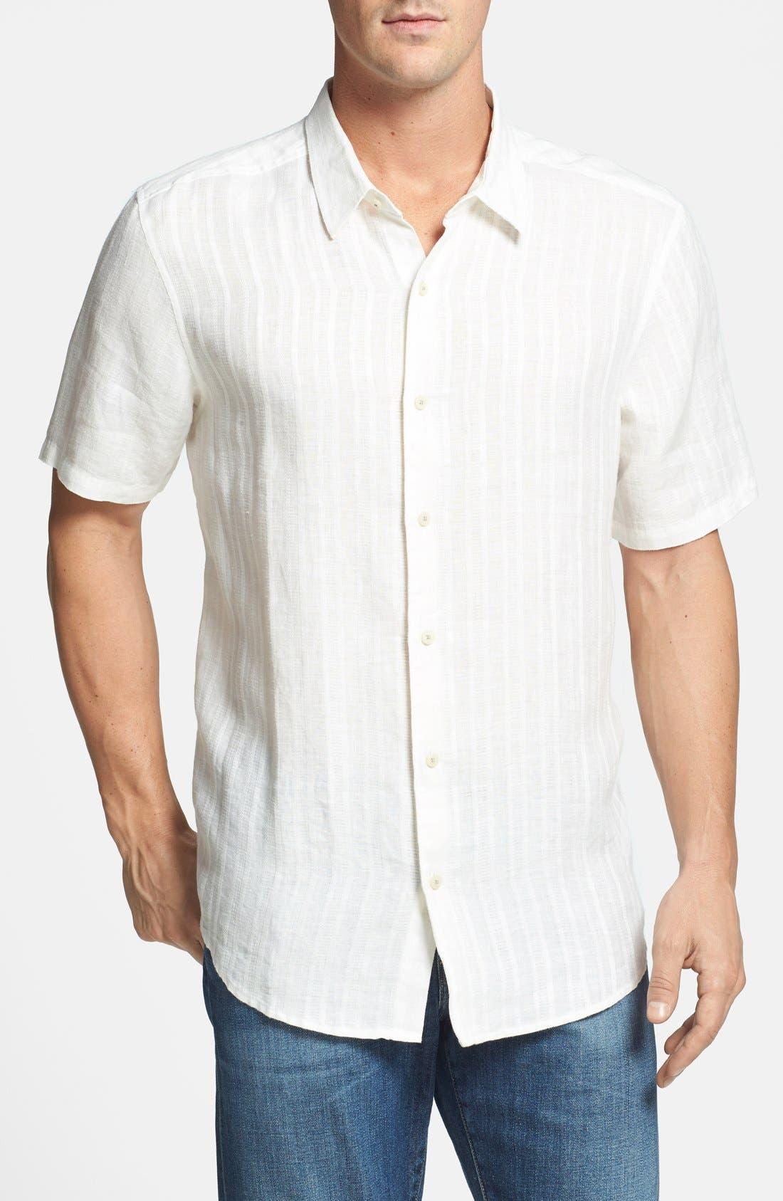 Alternate Image 1 Selected - Tommy Bahama Island Modern Fit Linen Sport Shirt