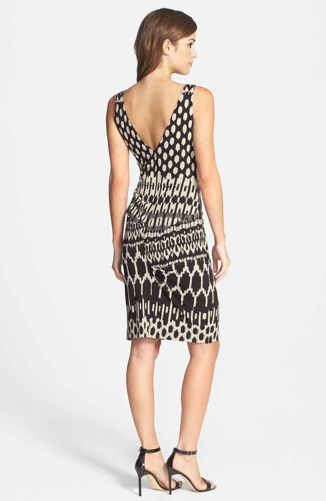 Alternate Image 2  - Nicole Miller Tucked Print Jersey Dress