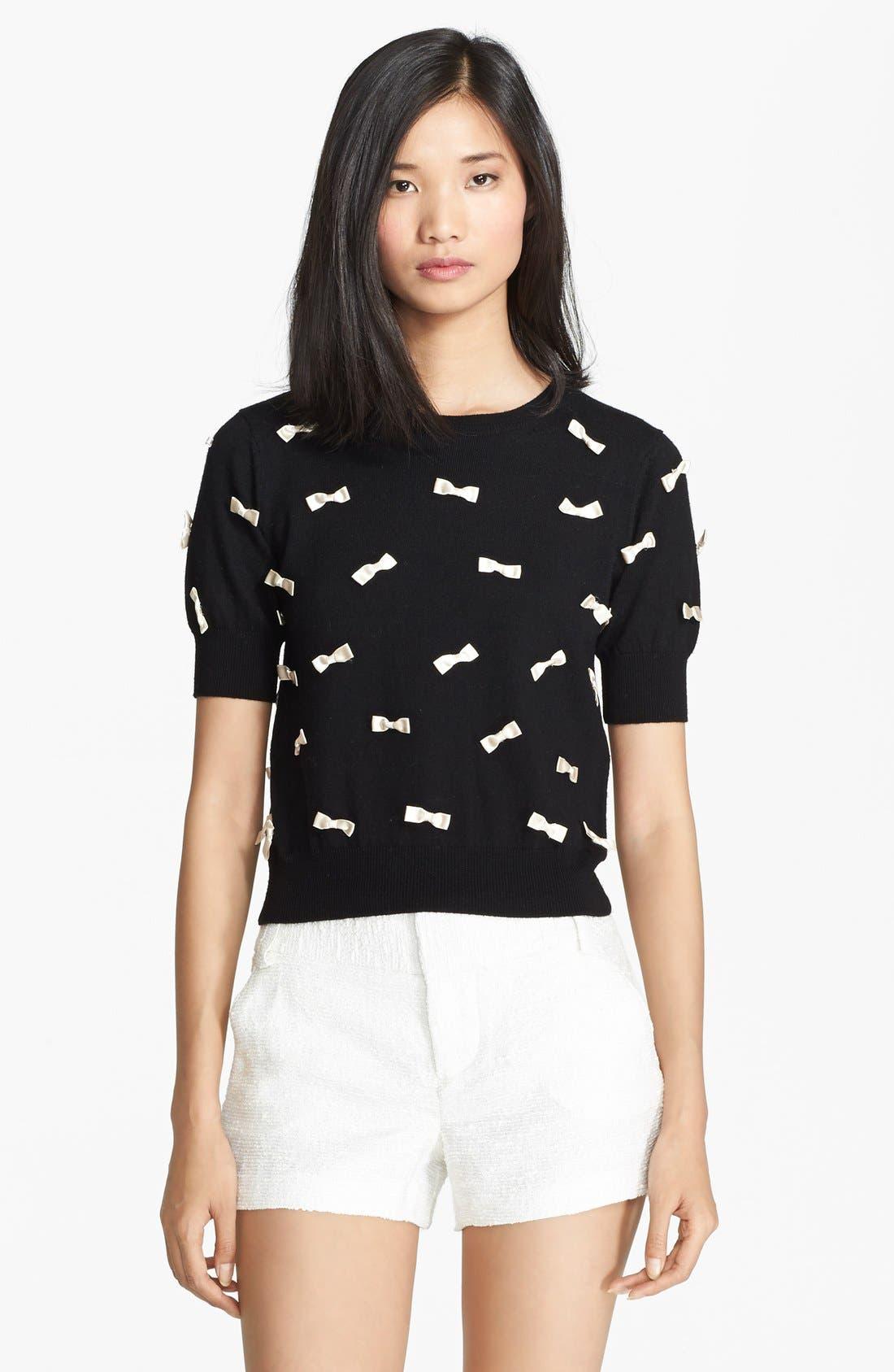 Main Image - Alice + Olivia Bow Detail Sweater