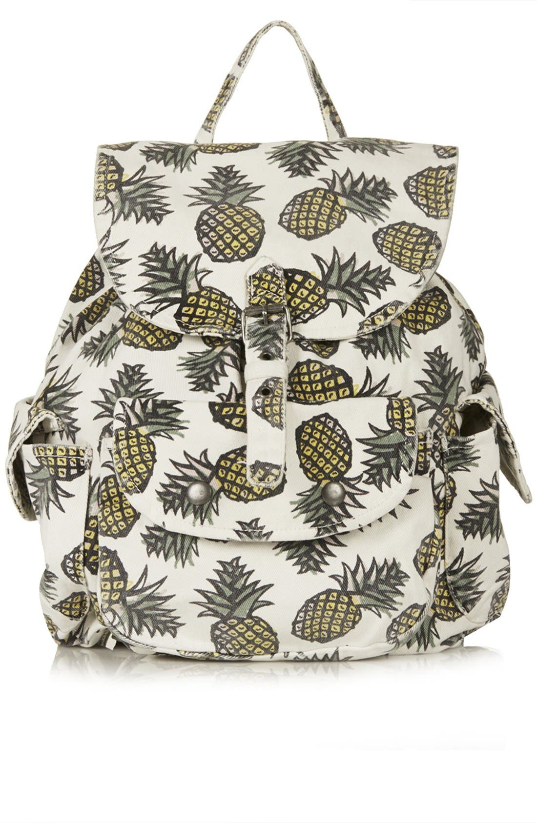 Alternate Image 1 Selected - Topshop Pineapple Print Denim Backpack