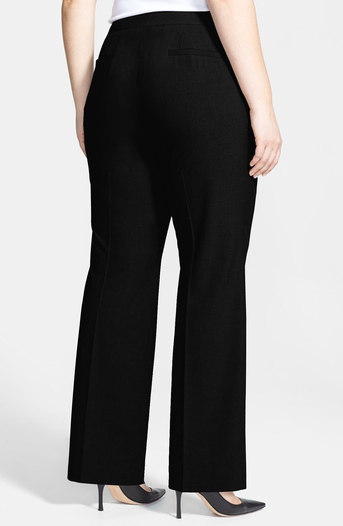 Alternate Image 3  - Sejour 'Ela' Curvy Fit Pants (Plus Size & Petite Plus)