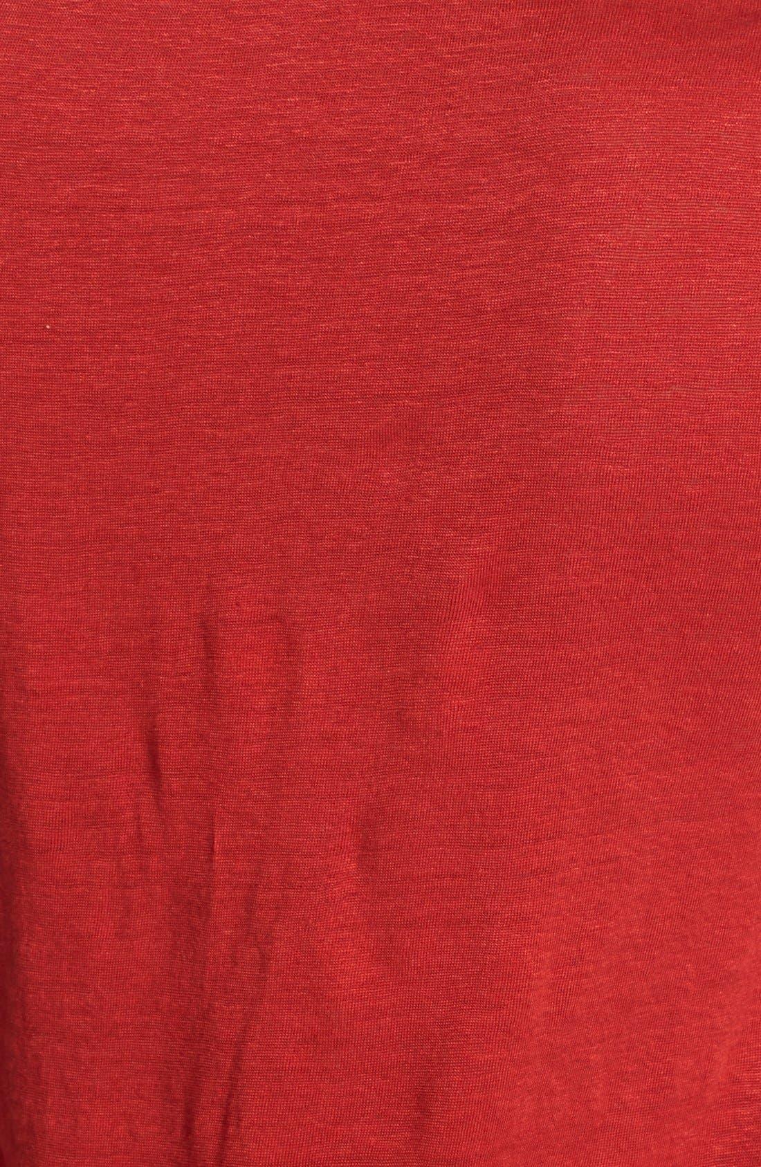 Alternate Image 3  - Eileen Fisher U-Neck Organic Linen A-Line Tee