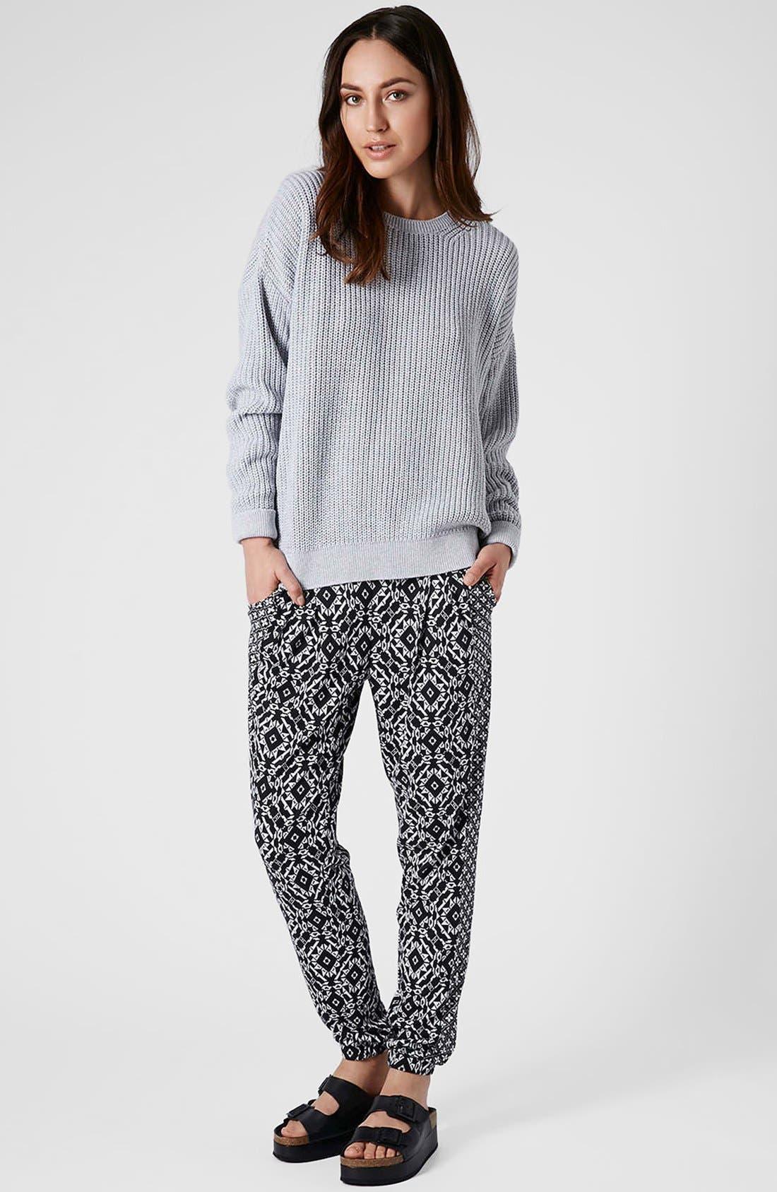 Alternate Image 5  - Topshop Mixed Print Tapered Pants (Regular & Petite)