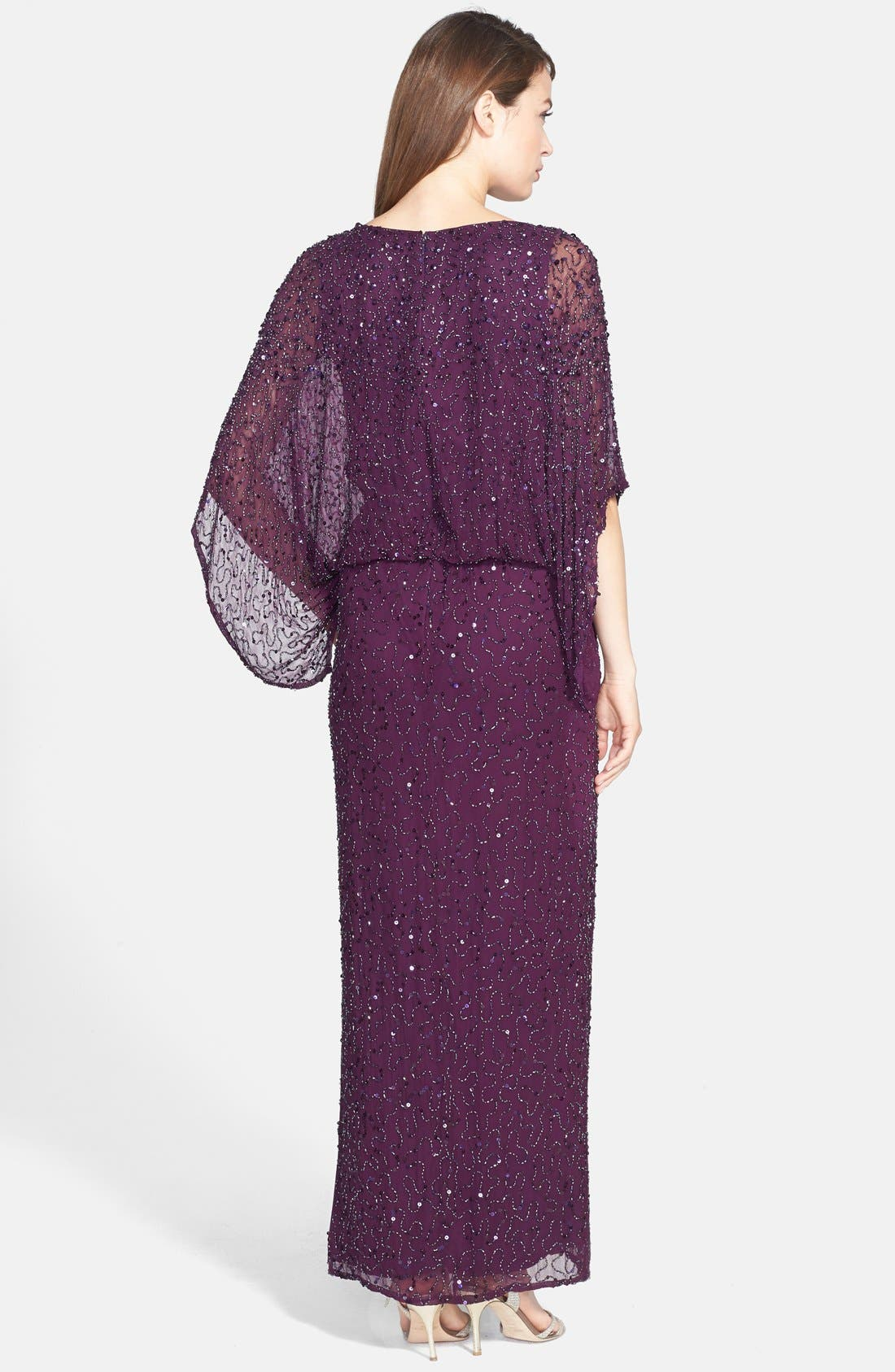 Alternate Image 2  - Patra Embellished Silk Blouson Gown