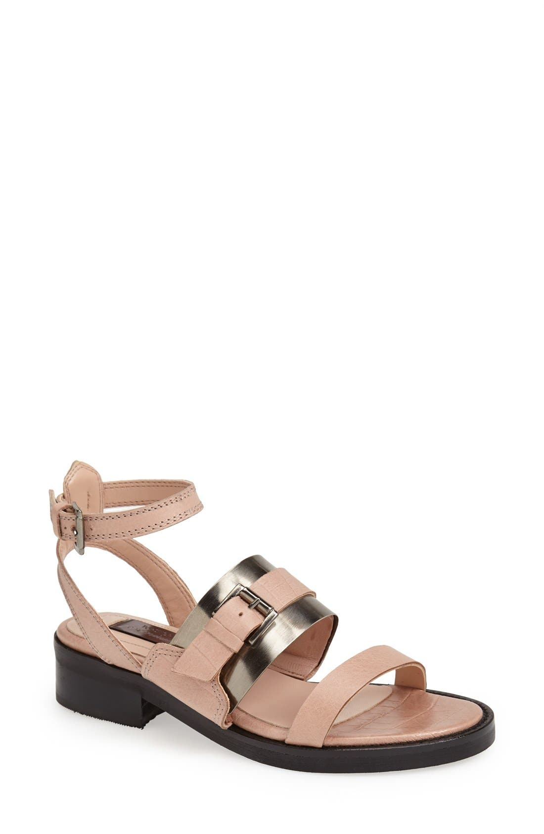 Alternate Image 1 Selected - Topshop 'Premium - Preeta' Ankle Strap Sandal (Women)