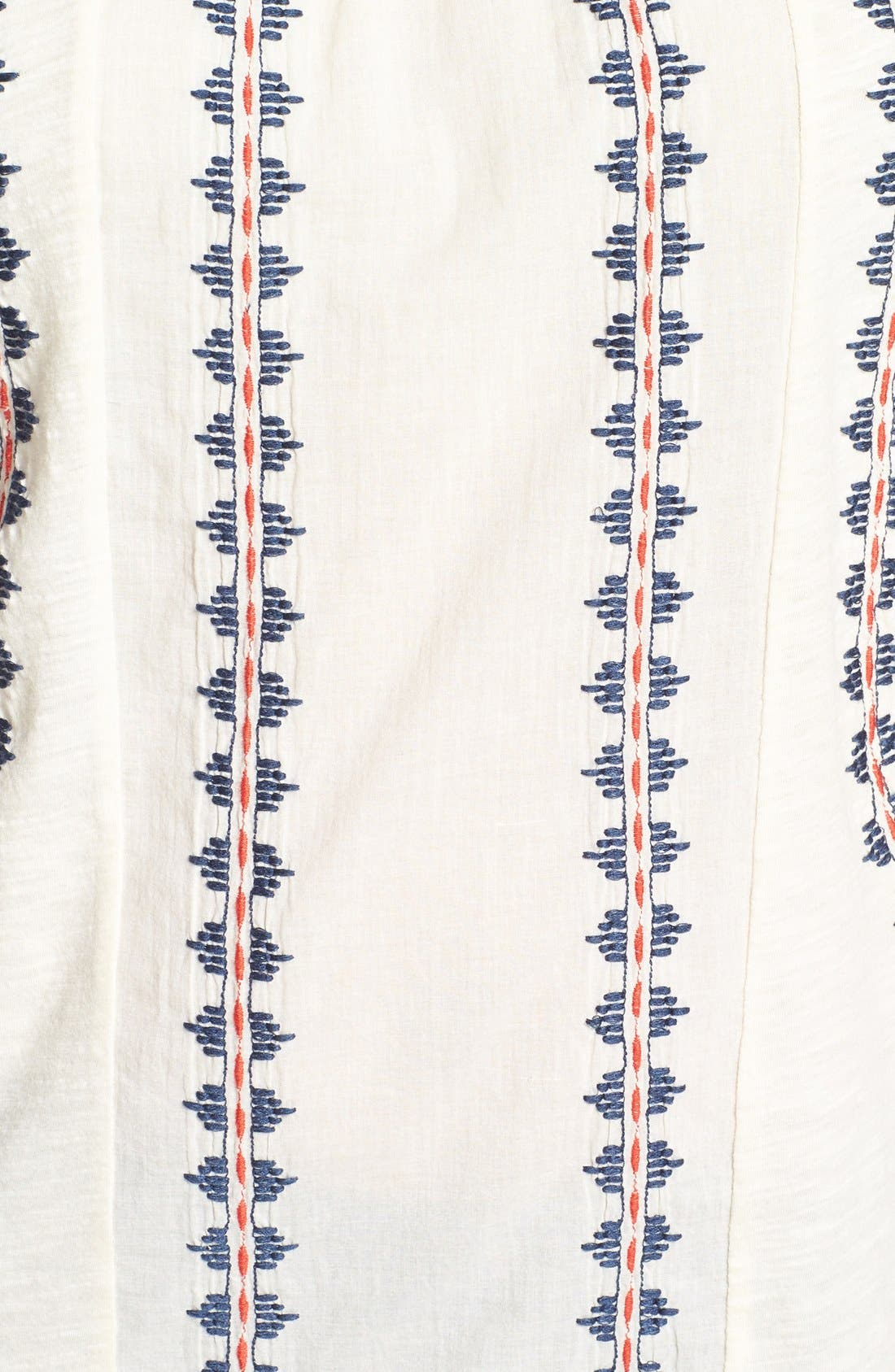 Alternate Image 3  - Lucky Brand Embroidered Stripe Jersey Tee (Plus Size)