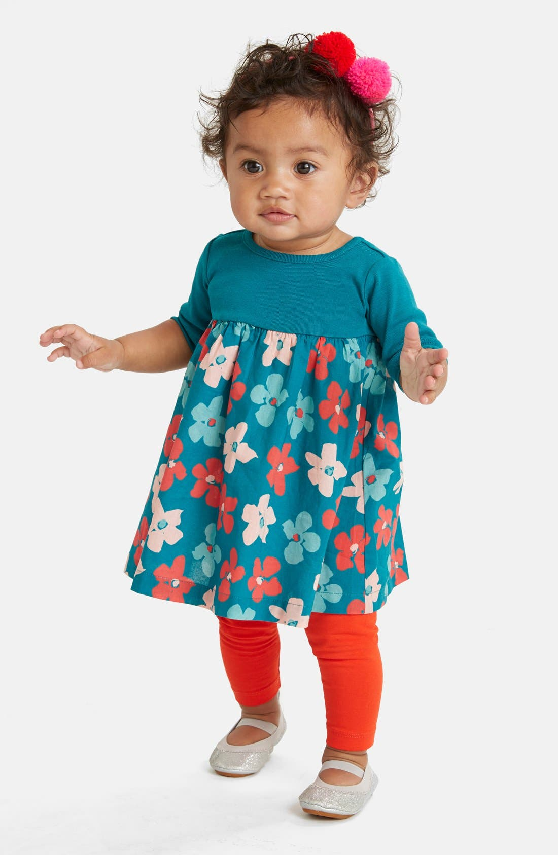 Alternate Image 2  - Tea Collection 'Stiefmütterchen' Cotton Dress (Baby Girls)