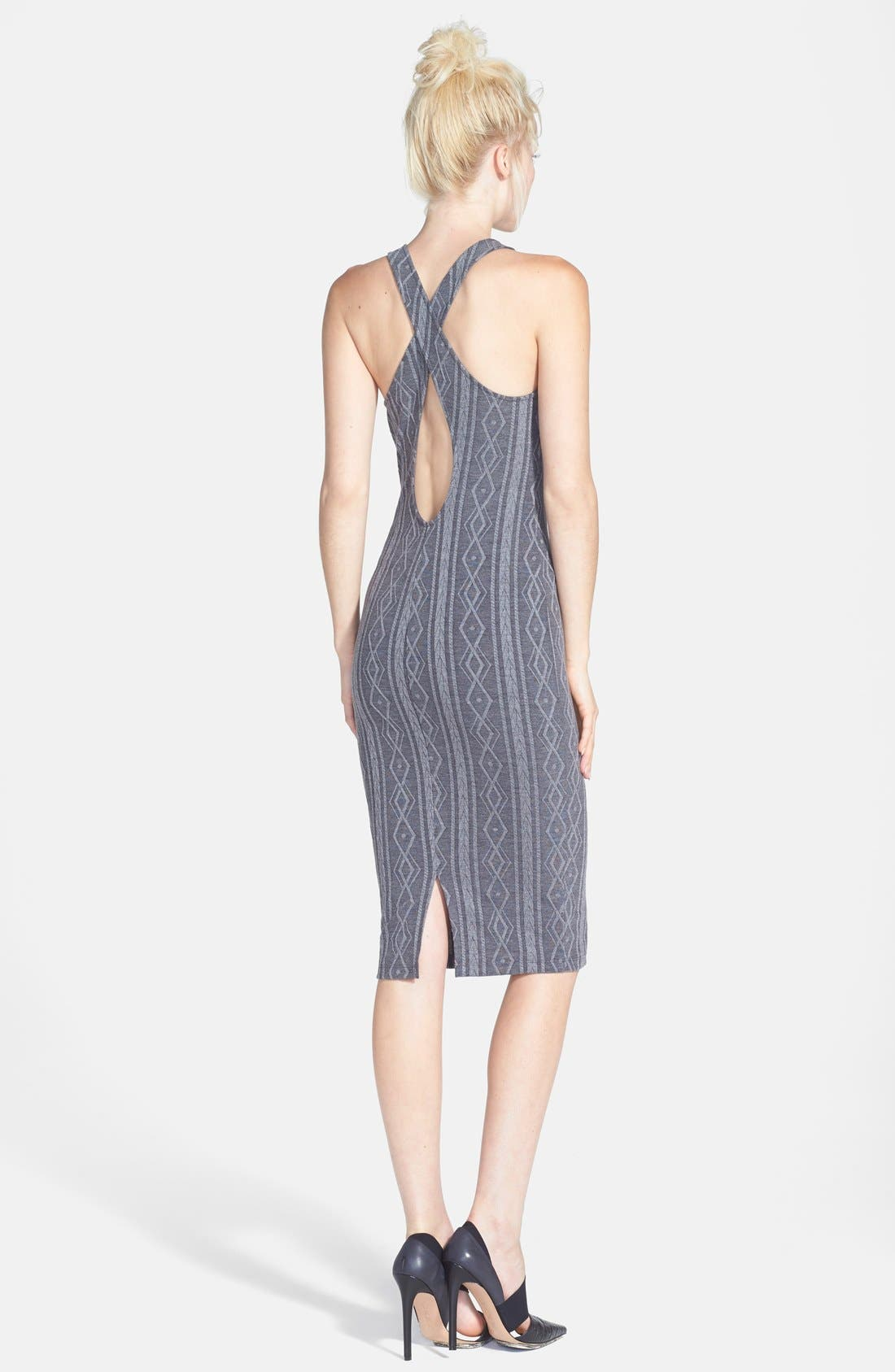 Alternate Image 2  - ASTR Cross Back Body-Con Tank Dress