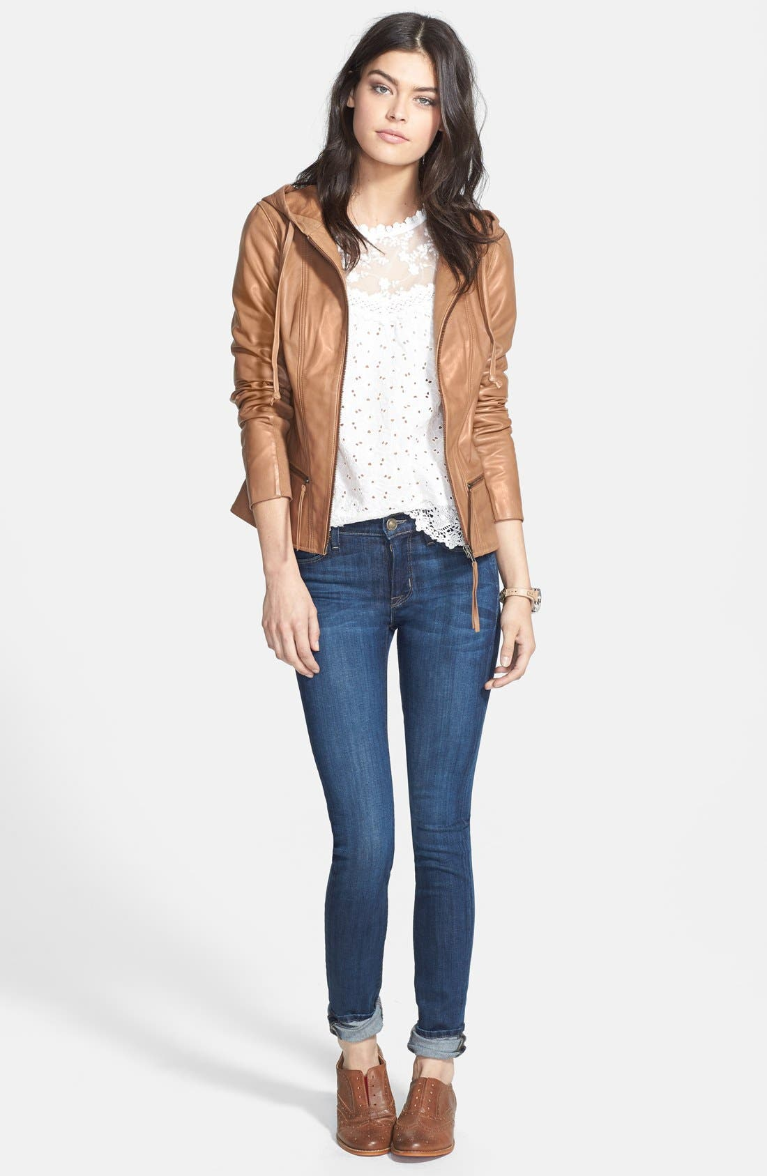 Alternate Image 6  - Hudson Jeans 'Collette' Skinny Jeans (Cascade) (Nordstrom Exclusive)