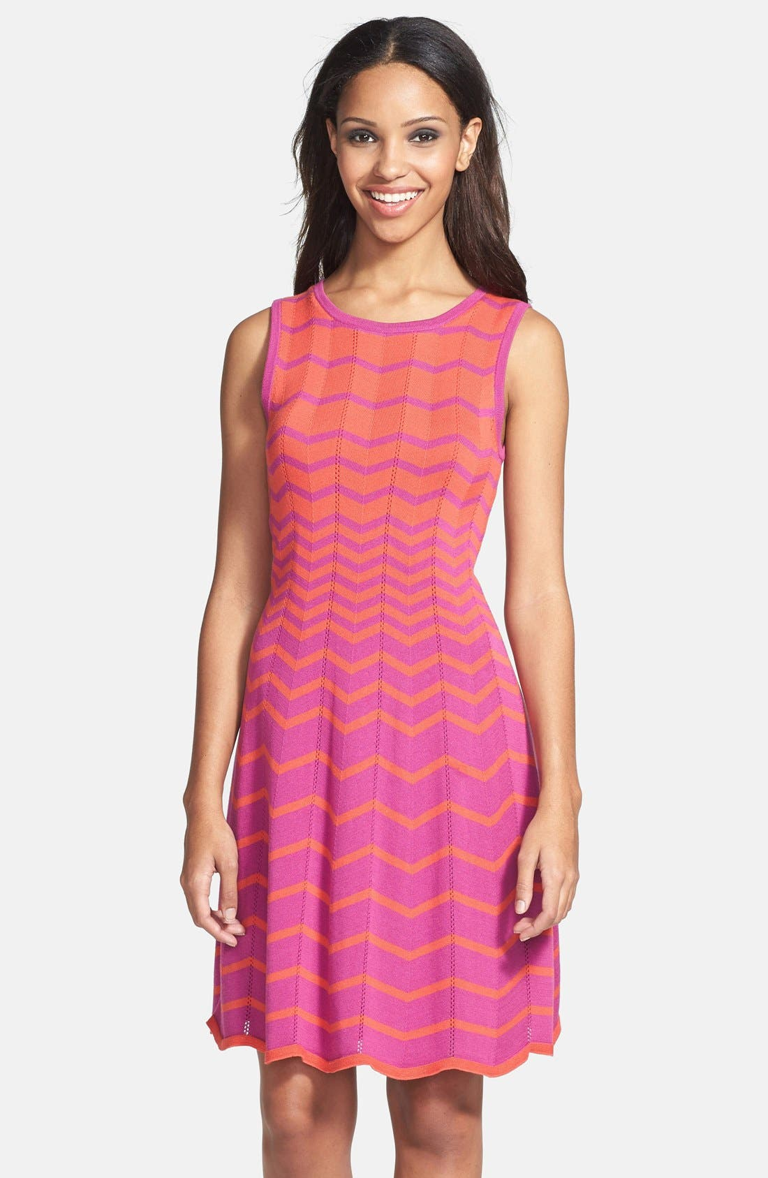 Alternate Image 1 Selected - Trina Turk 'Martinique' Fit & Flare Sweater Dress
