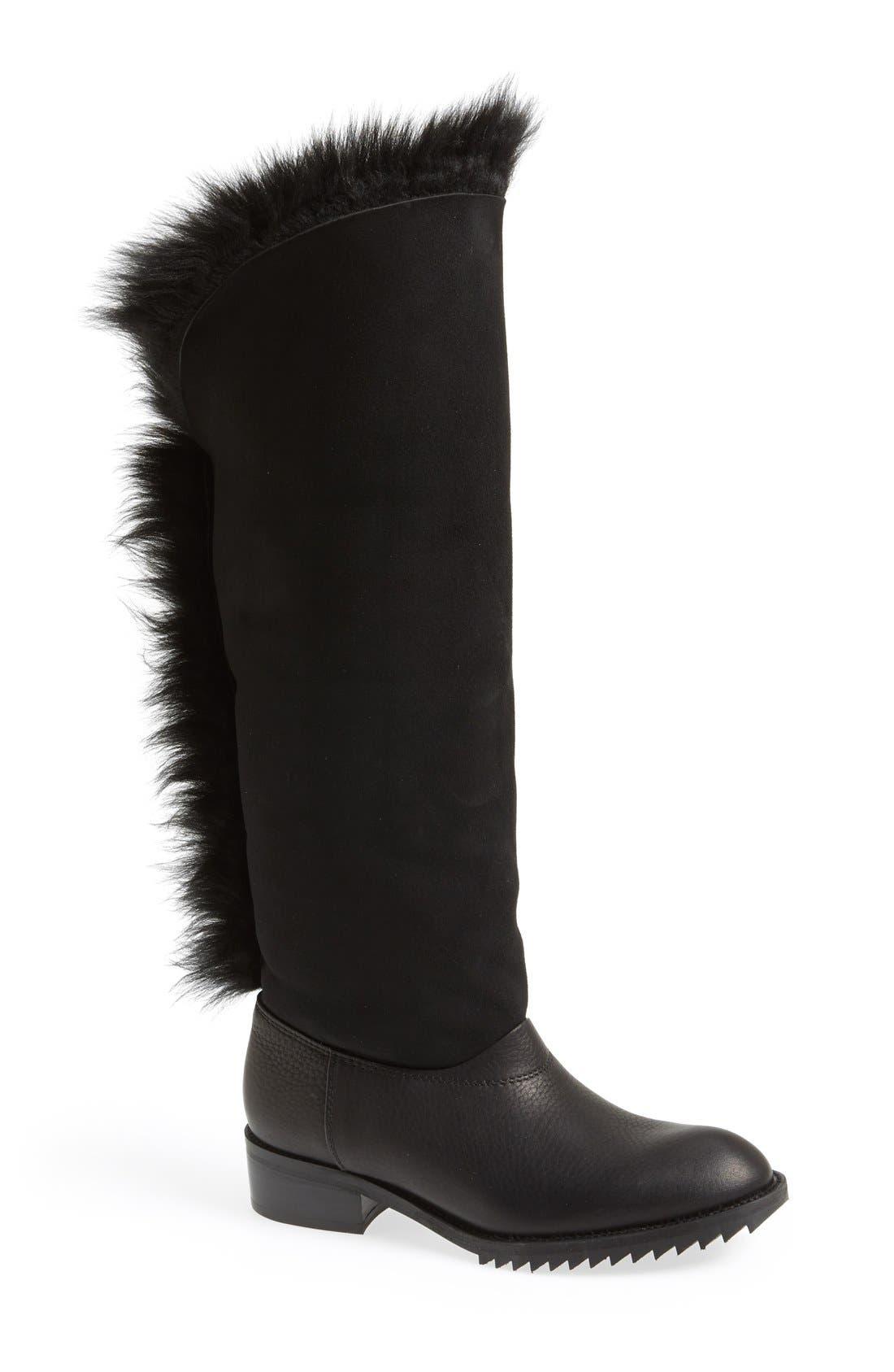 Alternate Image 5  - Pedro Garcia 'Odette' Genuine Shearling & Leather Boot (Women)