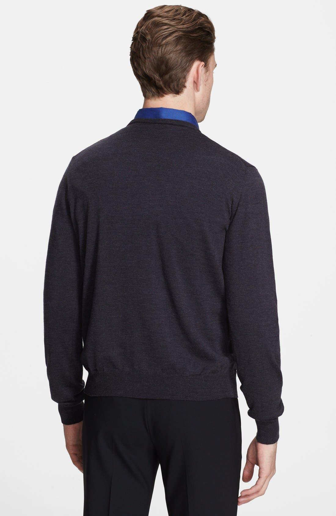 Alternate Image 2  - Armani Collezioni Wool Jersey Crewneck Sweater