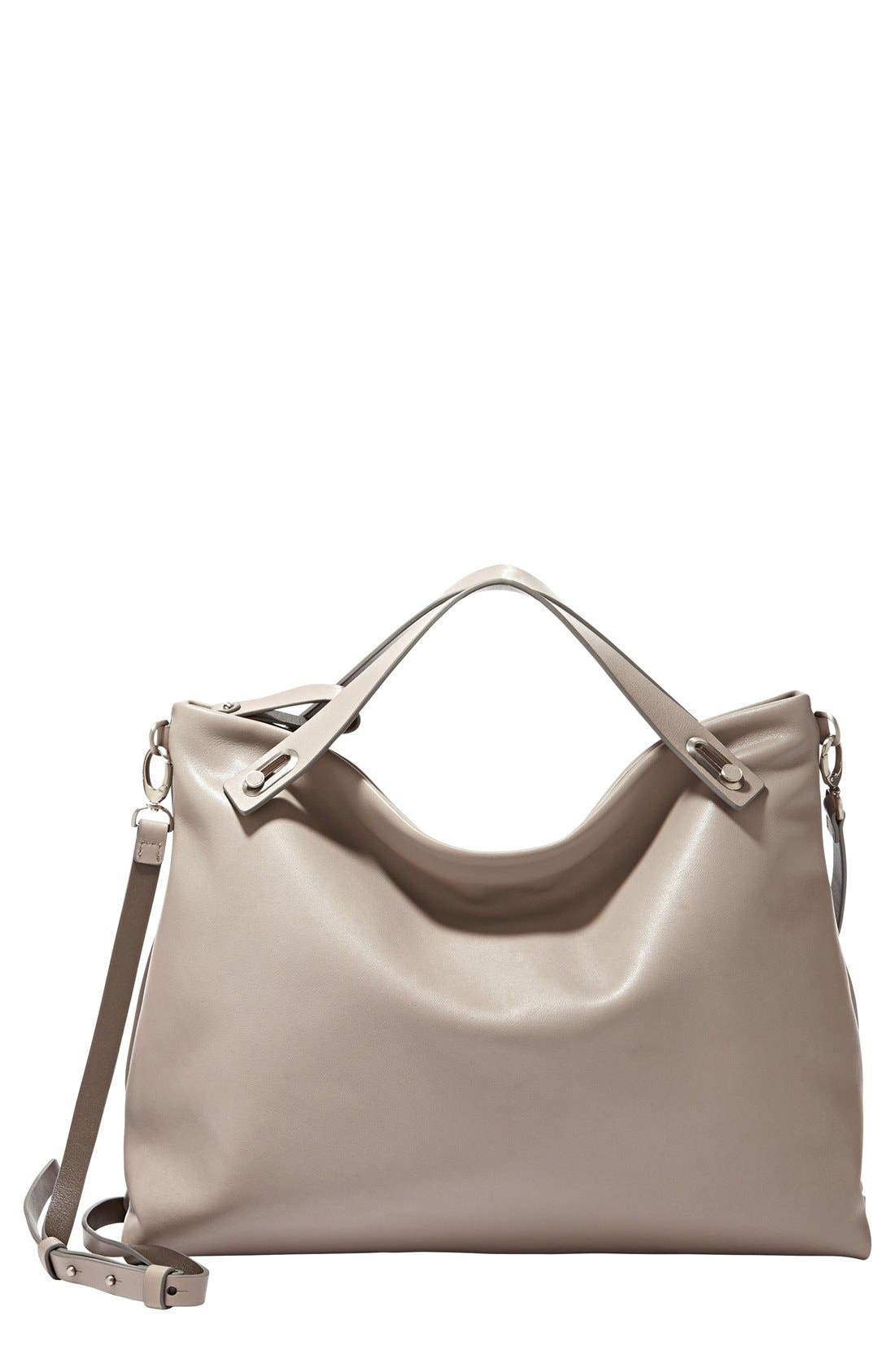 Alternate Image 1 Selected - Skagen 'Mikkeline' Leather Satchel