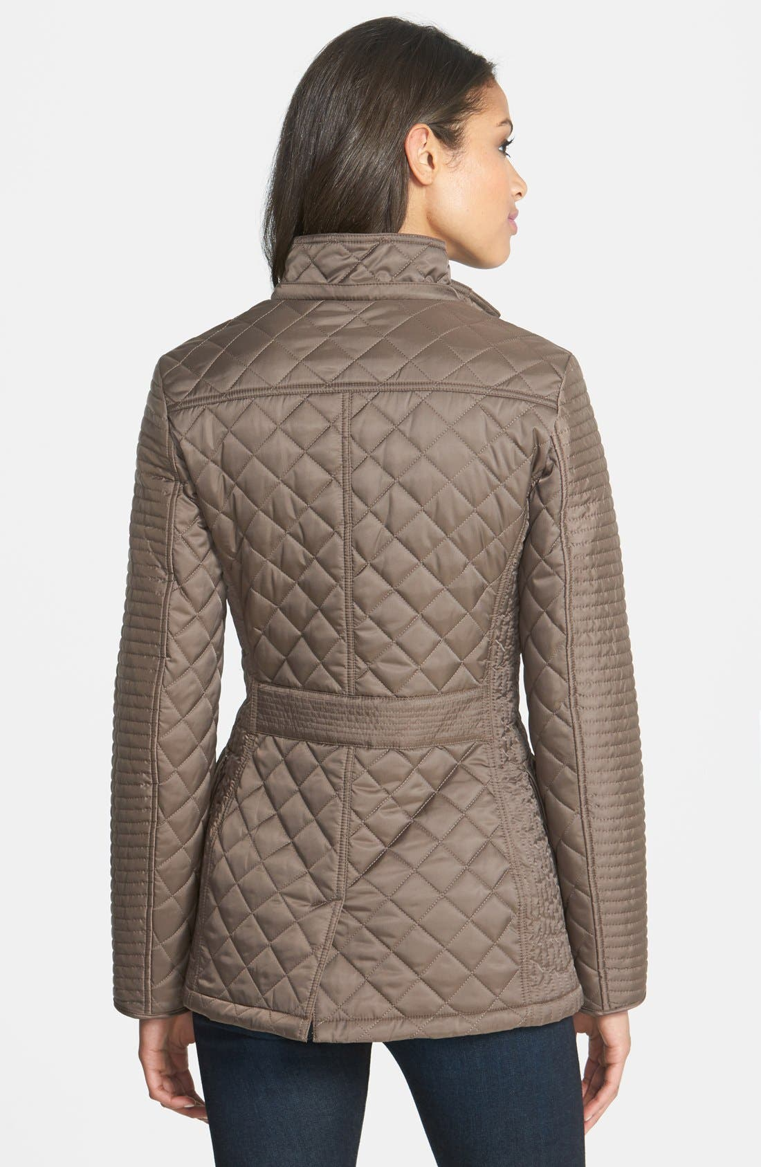 Alternate Image 3  - Laundry by Shelli Segal Quilted Jacket with Removable Hood (Regular & Petite)