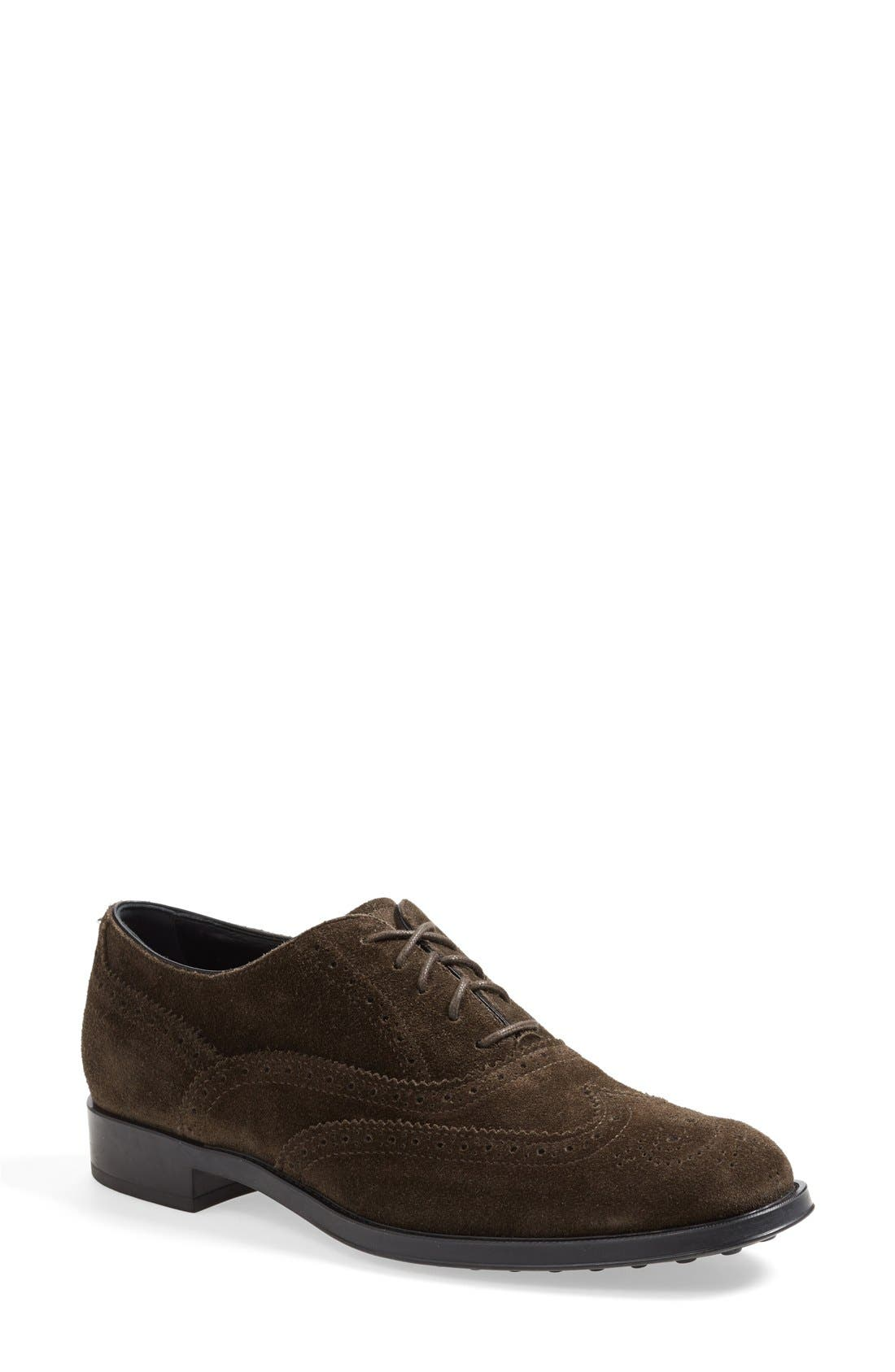 Alternate Image 1 Selected - Tod's Brogue Oxford (Women)