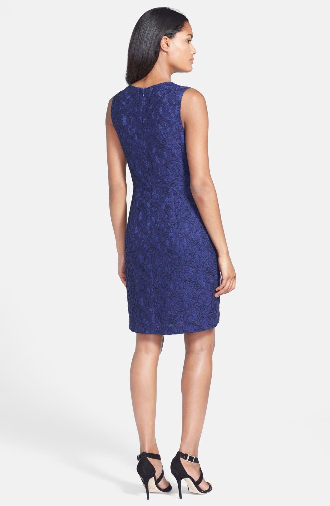 Alternate Image 2  - Cynthia Steffe 'Garland' Lace Sheath Dress