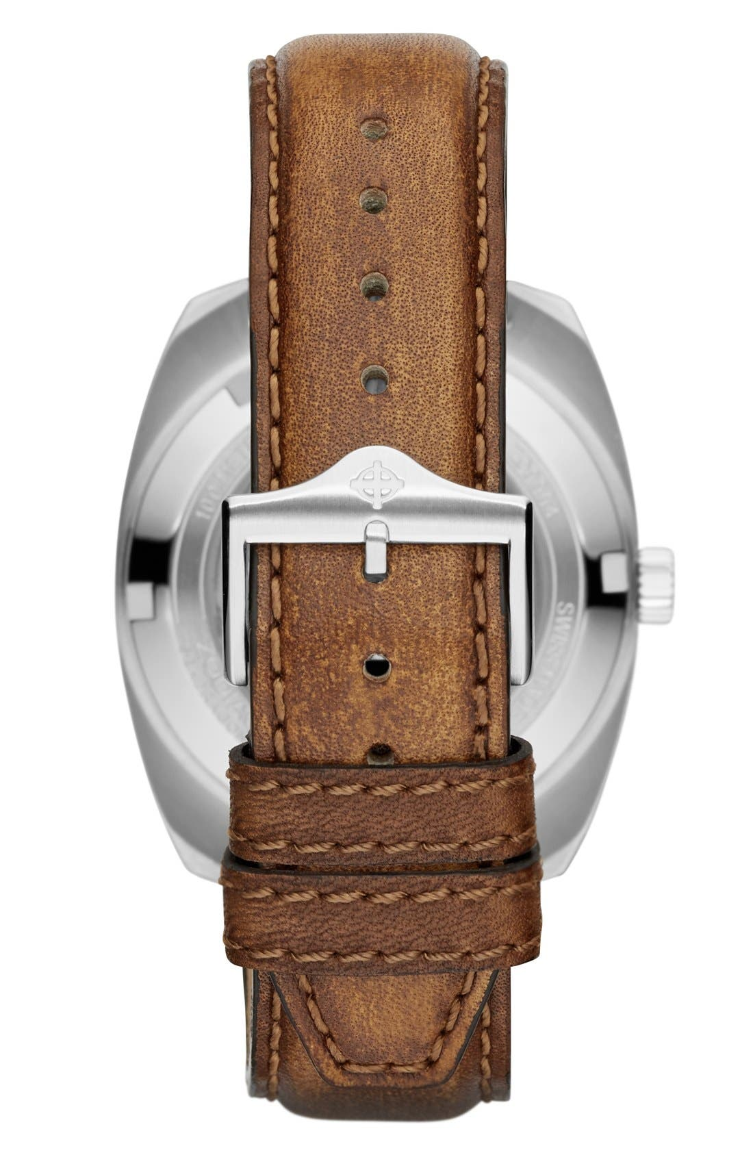 Alternate Image 2  - Zodiac 'Sea Dragon' Automatic Leather Strap Watch, 39mm