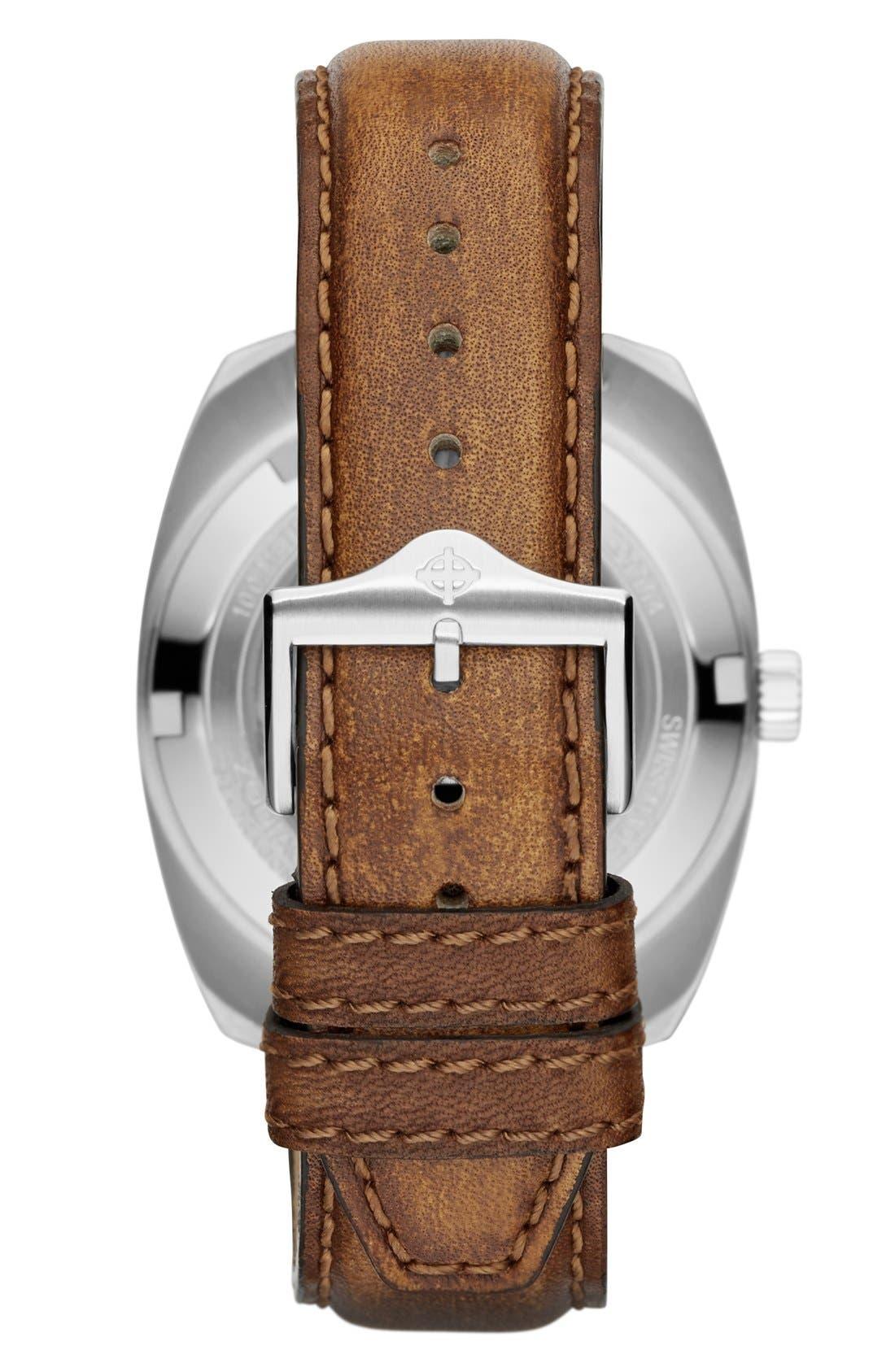 Alternate Image 2  - Zodiac 'Sea Dragon' Automatic Leather Strap Watch, 39mm