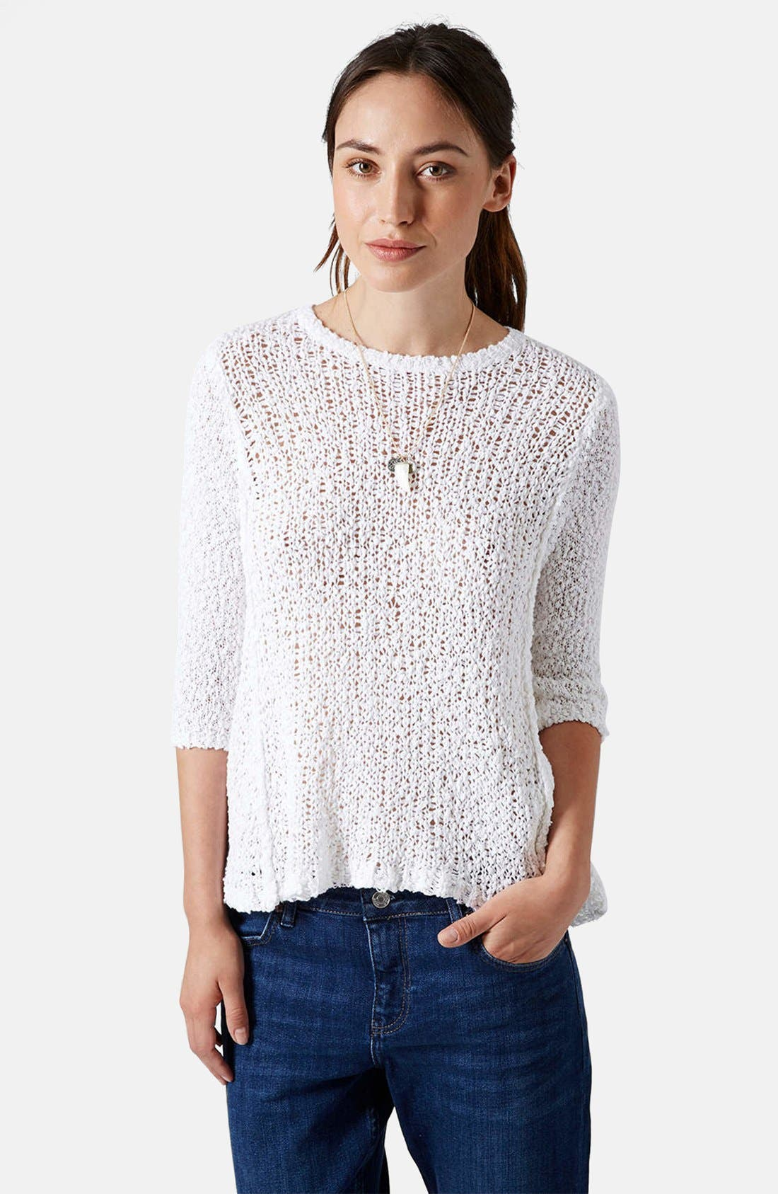 Alternate Image 1 Selected - Topshop Slubby Swing Sweater