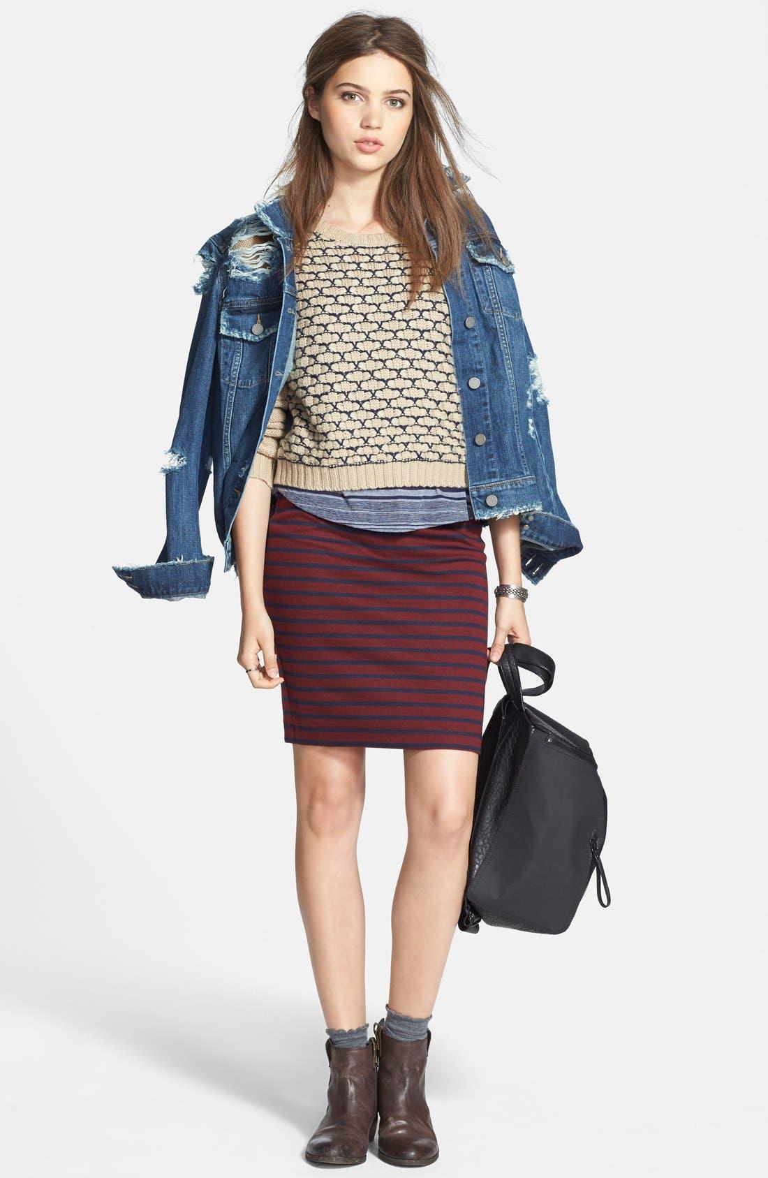 Alternate Image 6  - Ace Delivery Stripe Tube Skirt