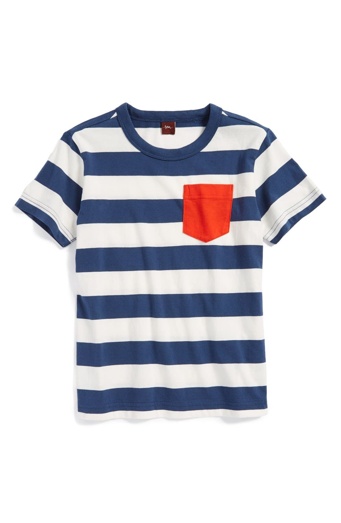 Main Image - Tea Collection 'Maritime' Stripe Cotton T-Shirt (Baby Boys)