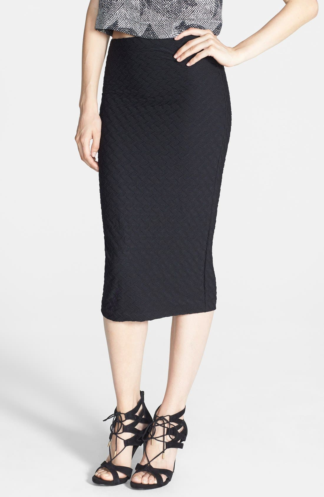 Alternate Image 1 Selected - Tildon Textured Knit Tube Skirt