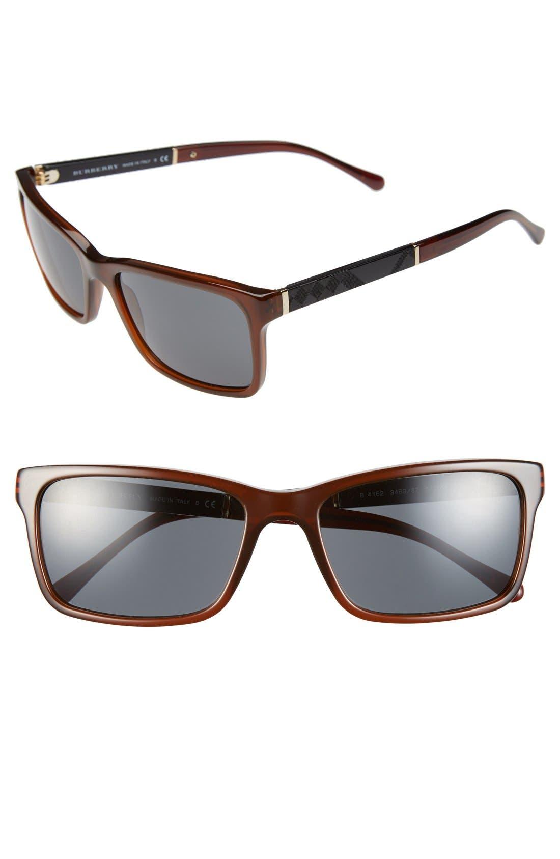 Alternate Image 1 Selected - Burberry 58mm Sunglasses