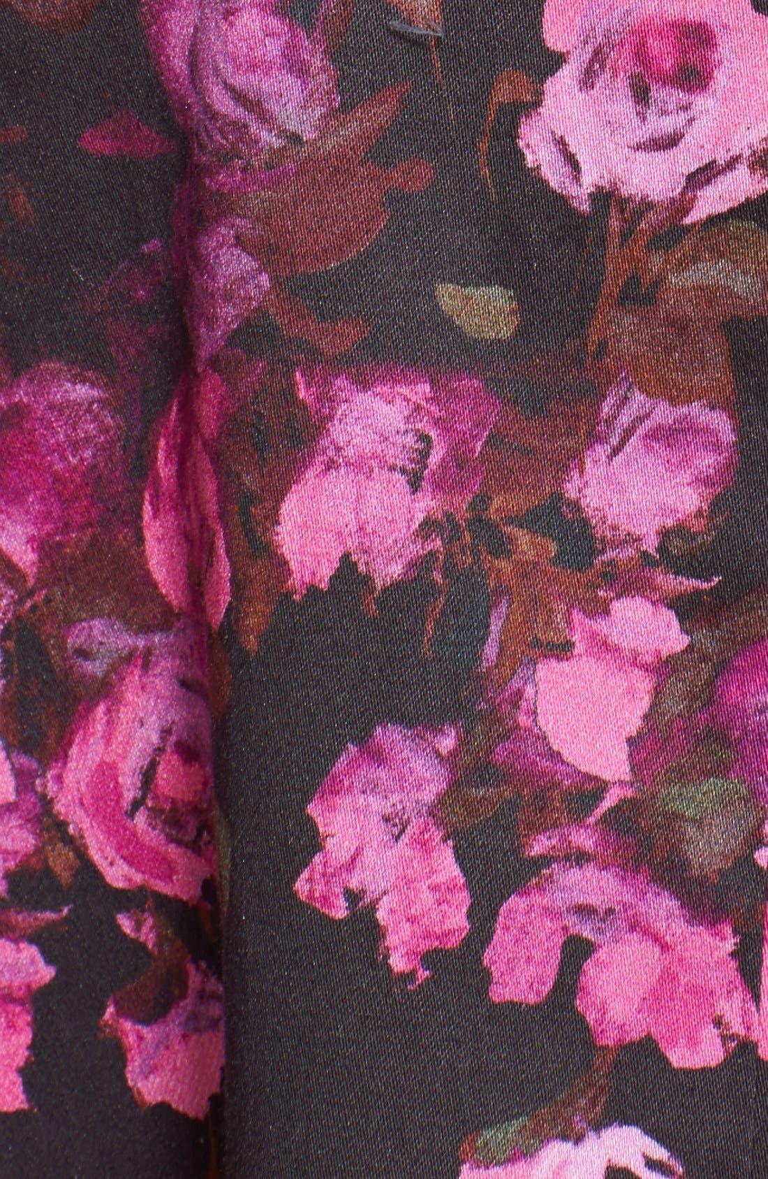 Alternate Image 3  - Lela Rose Floral Drop Waist Stretch Cotton Dress