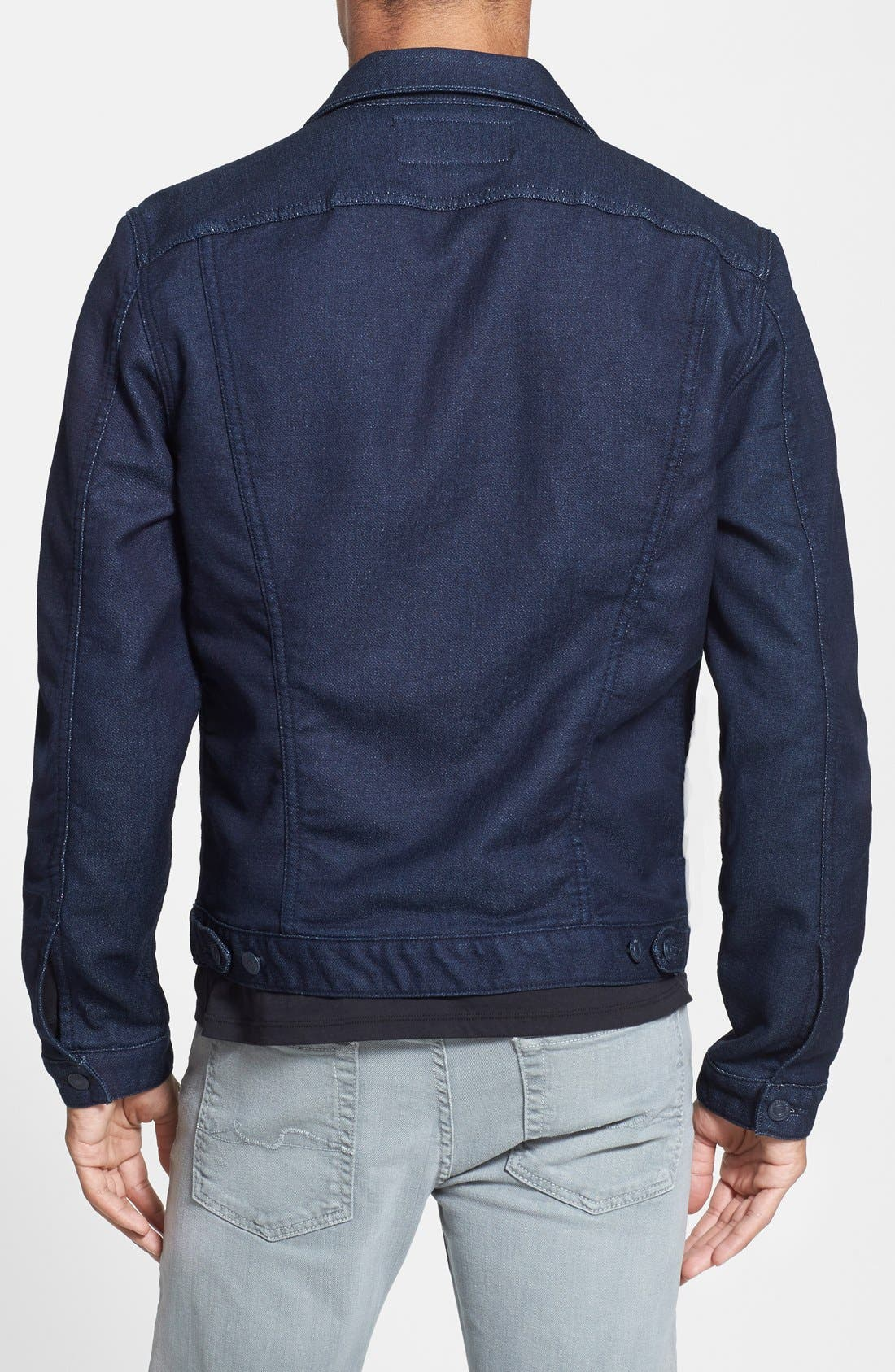 Alternate Image 2  - 7 For All Mankind® Modern Knit Jean Jacket