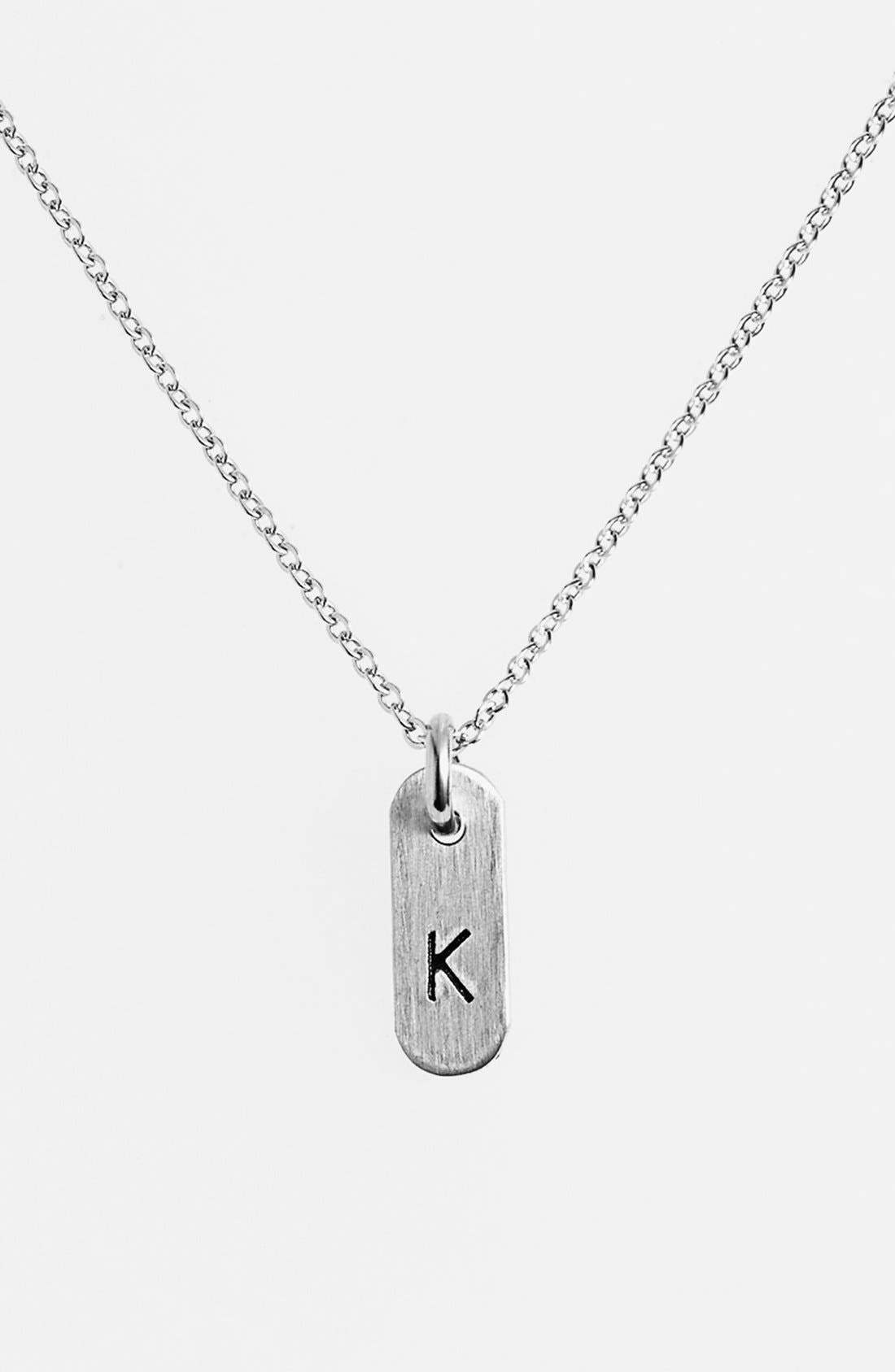 Nashelle Sterling Silver Initial Mini Bar Necklace