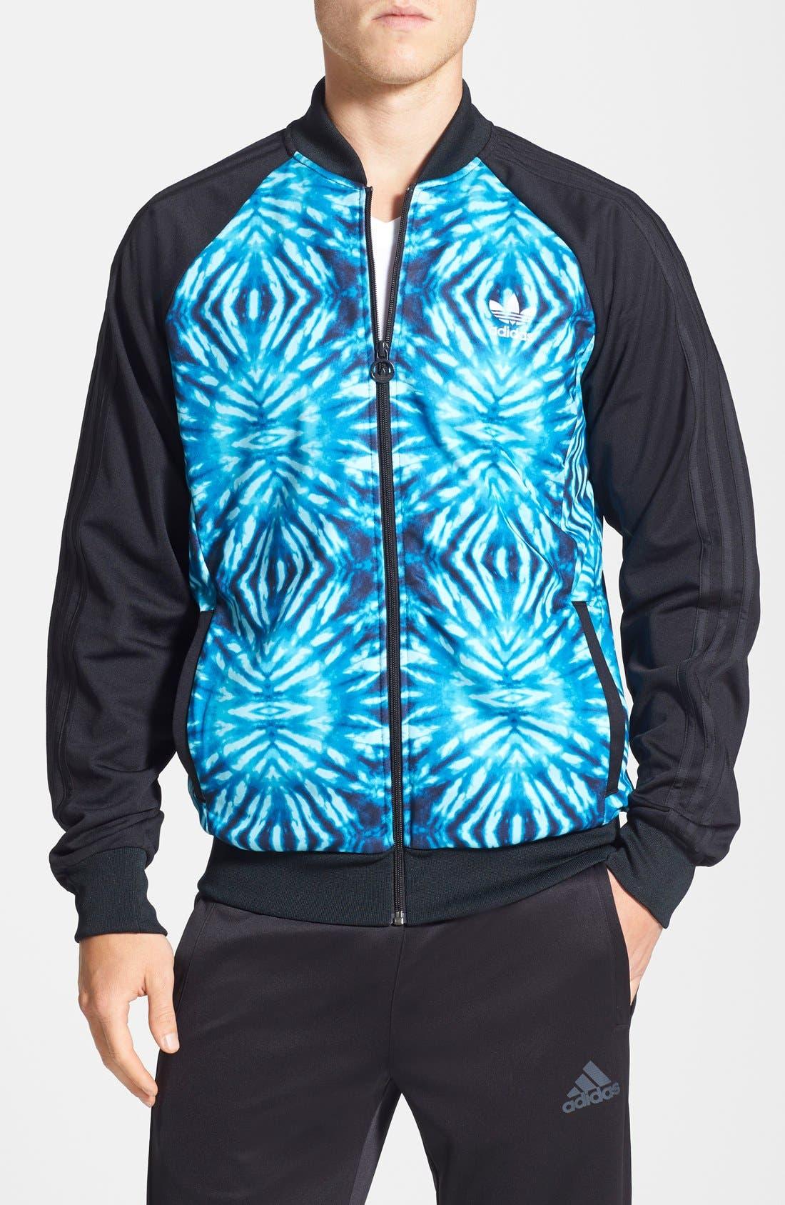 Alternate Image 1 Selected - adidas Originals 'Superstar Graphic' Raglan Sleeve Track Jacket