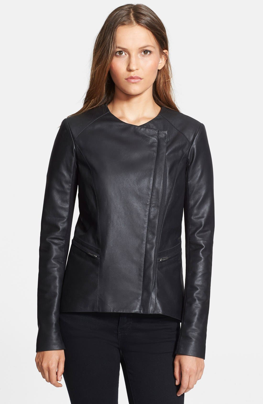 Alternate Image 2  - Veda 'Aires' Asymmetrical Zip Leather Jacket