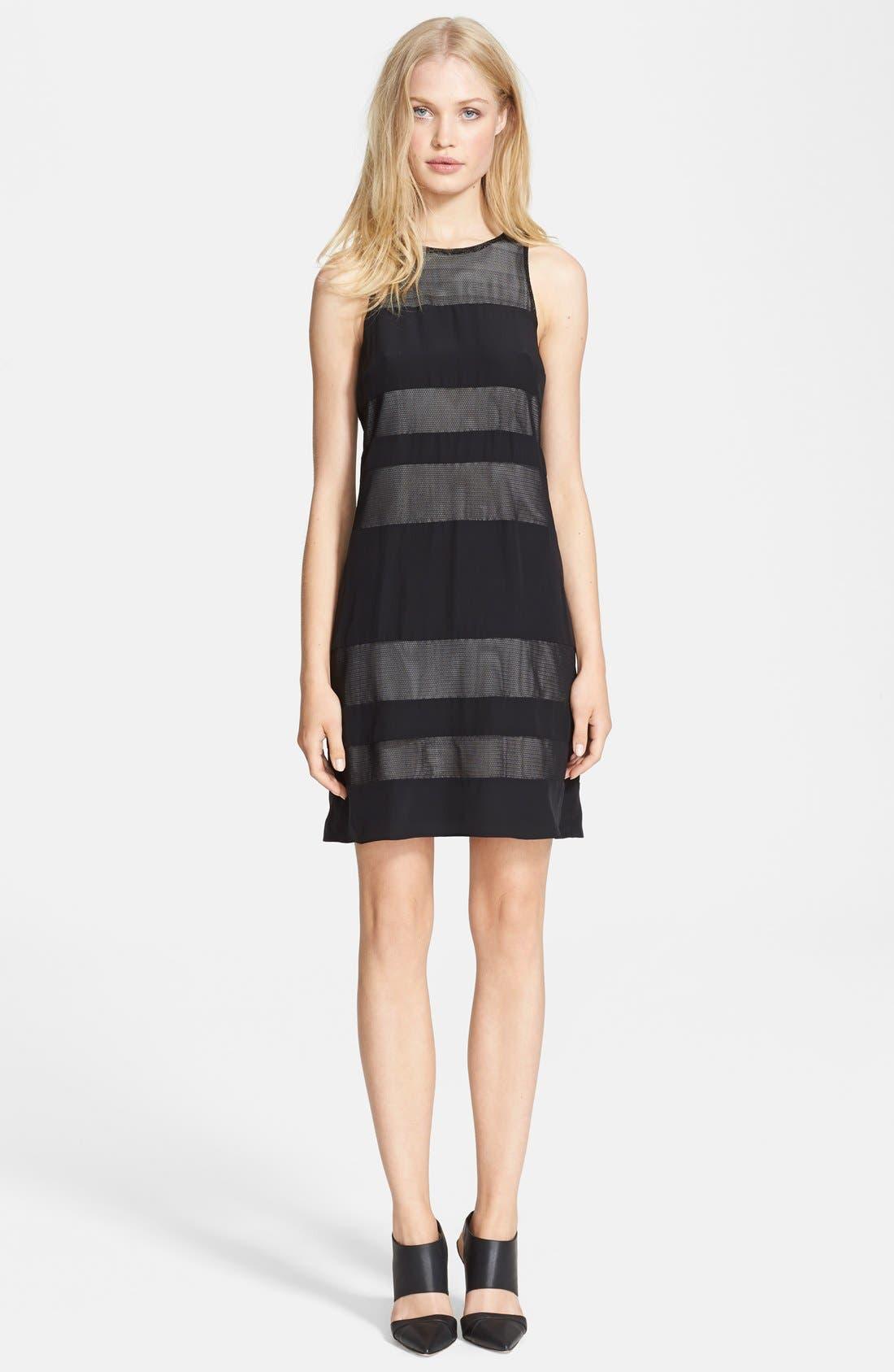 Alternate Image 1 Selected - Jay Godfrey 'Emmerson' Mesh Stripe Jersey Dress