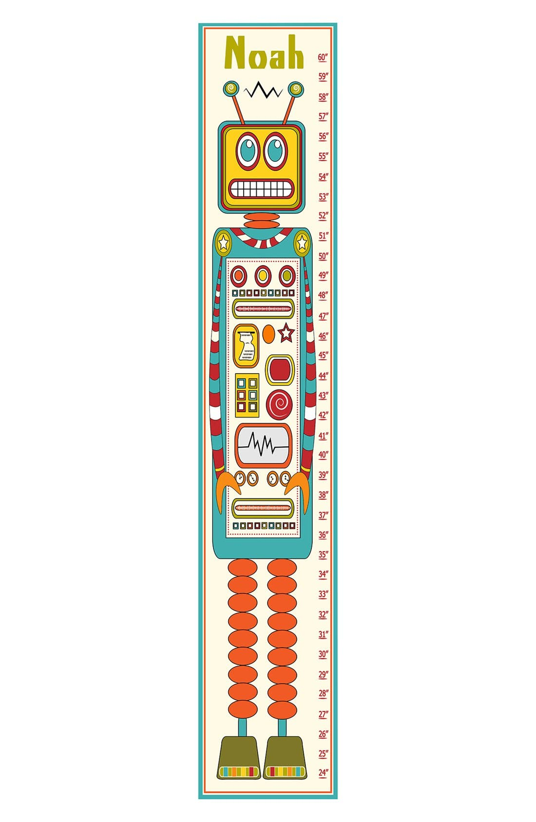 Alternate Image 1 Selected - Stupell 'Robot' Personalized Growth Chart