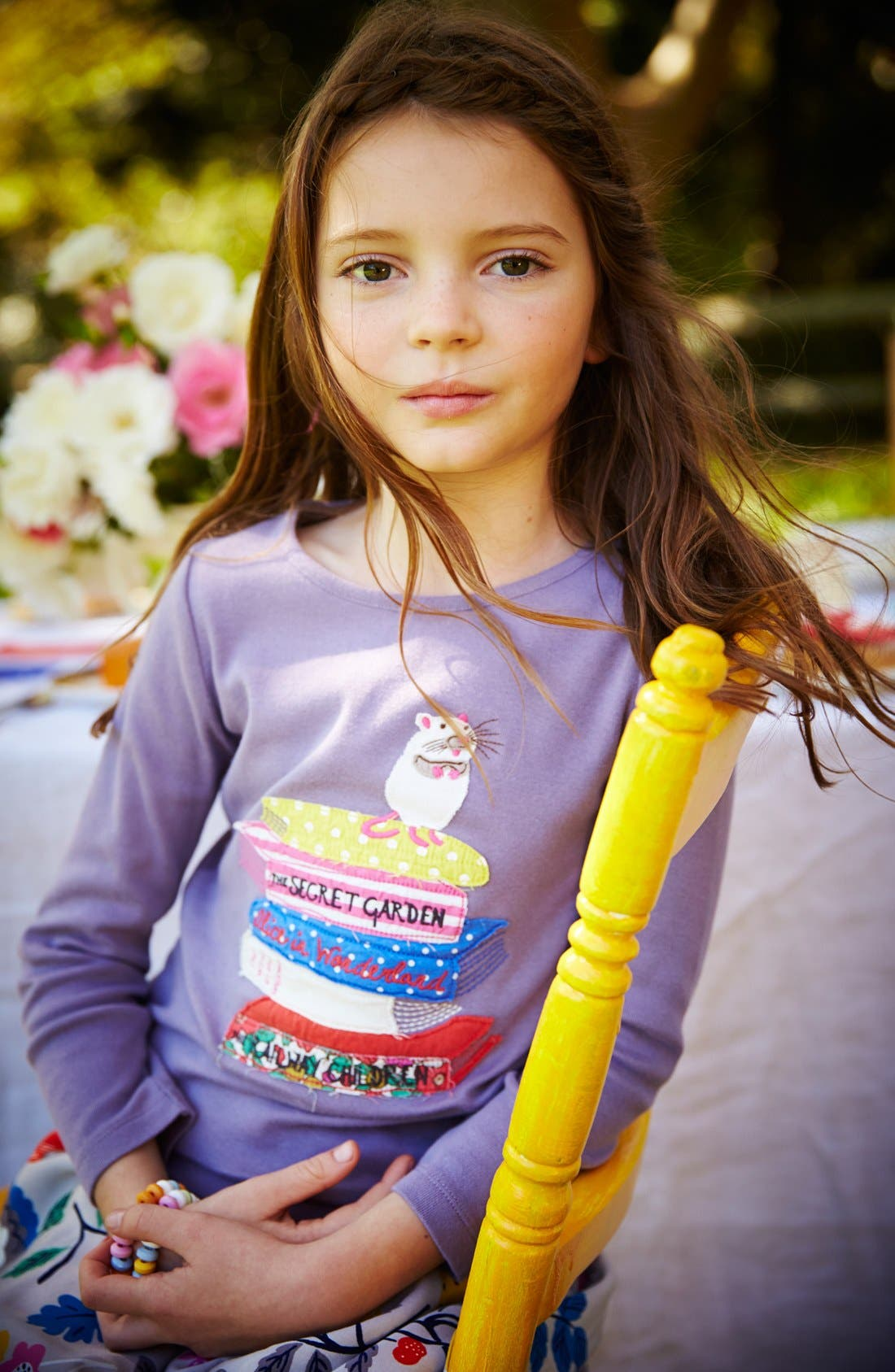 Alternate Image 2  - Mini Boden Story Book Appliqué Long Sleeve Tee (Toddler Girls, Little Girls & Big Girls)