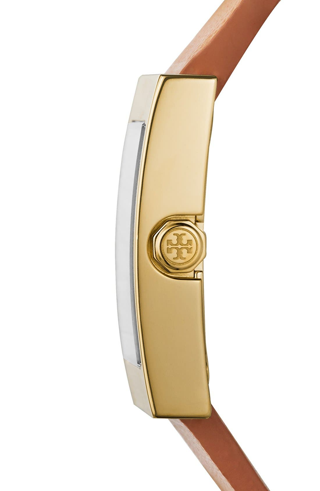 Alternate Image 3  - Tory Burch 'Buddy Classic' Rectangular Saffiano Leather Strap Watch, 26mm x 32mm