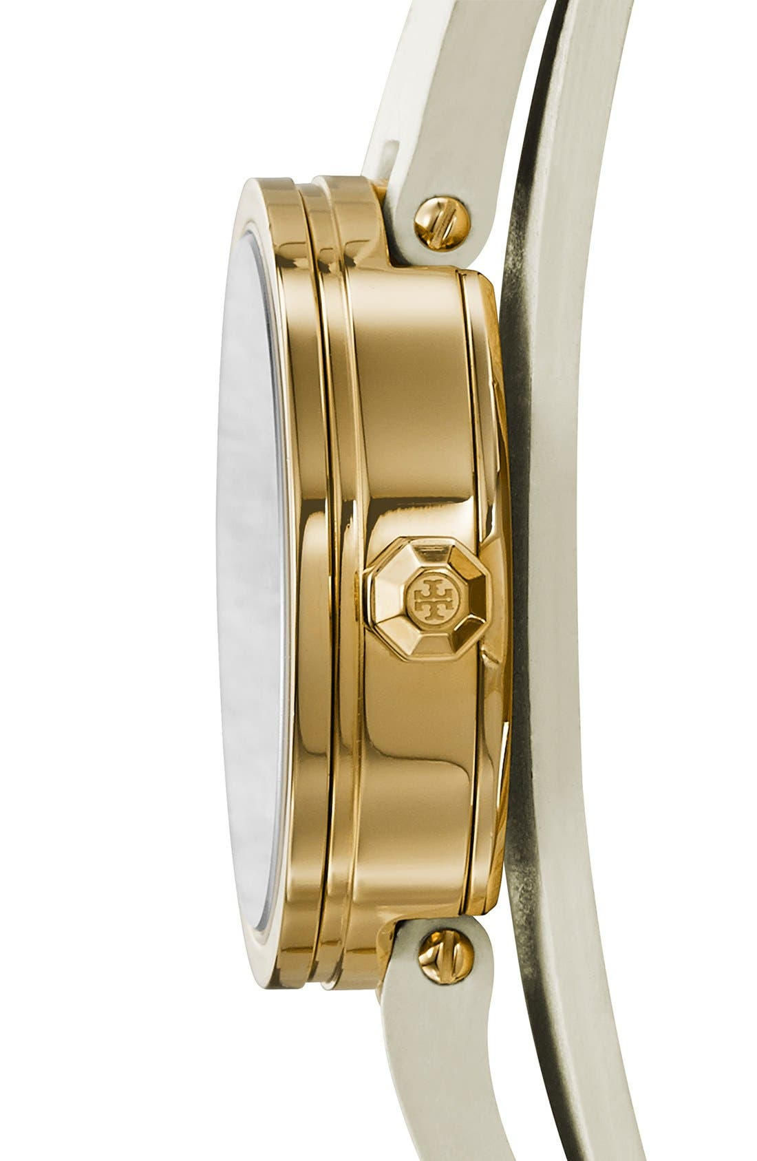 Alternate Image 3  - Tory Burch 'Reva' Logo Dial Double Wrap Leather Strap Watch, 28mm