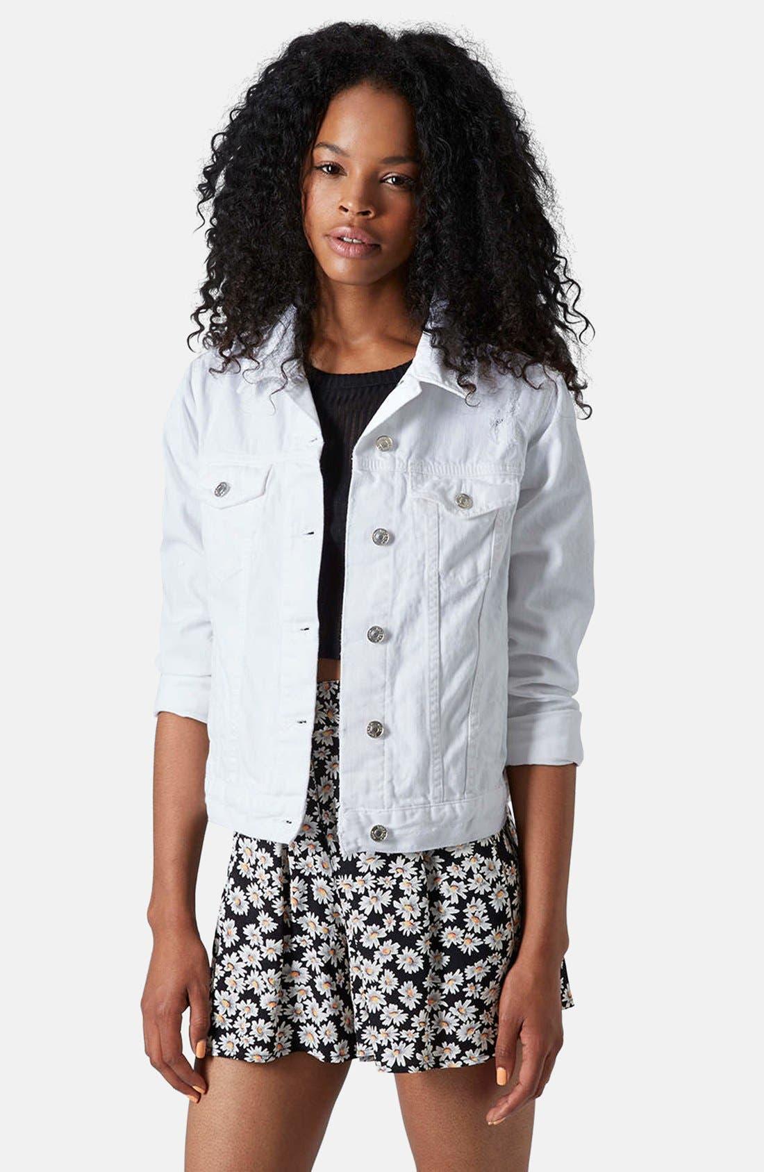 Alternate Image 1 Selected - Topshop 'Tilda' Denim Jacket