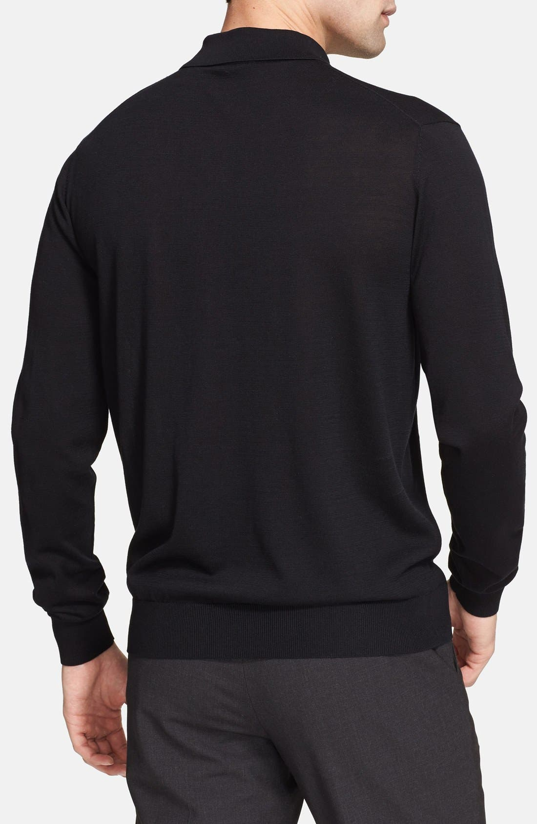 Alternate Image 2  - Armani Collezioni Textured Knit Polo